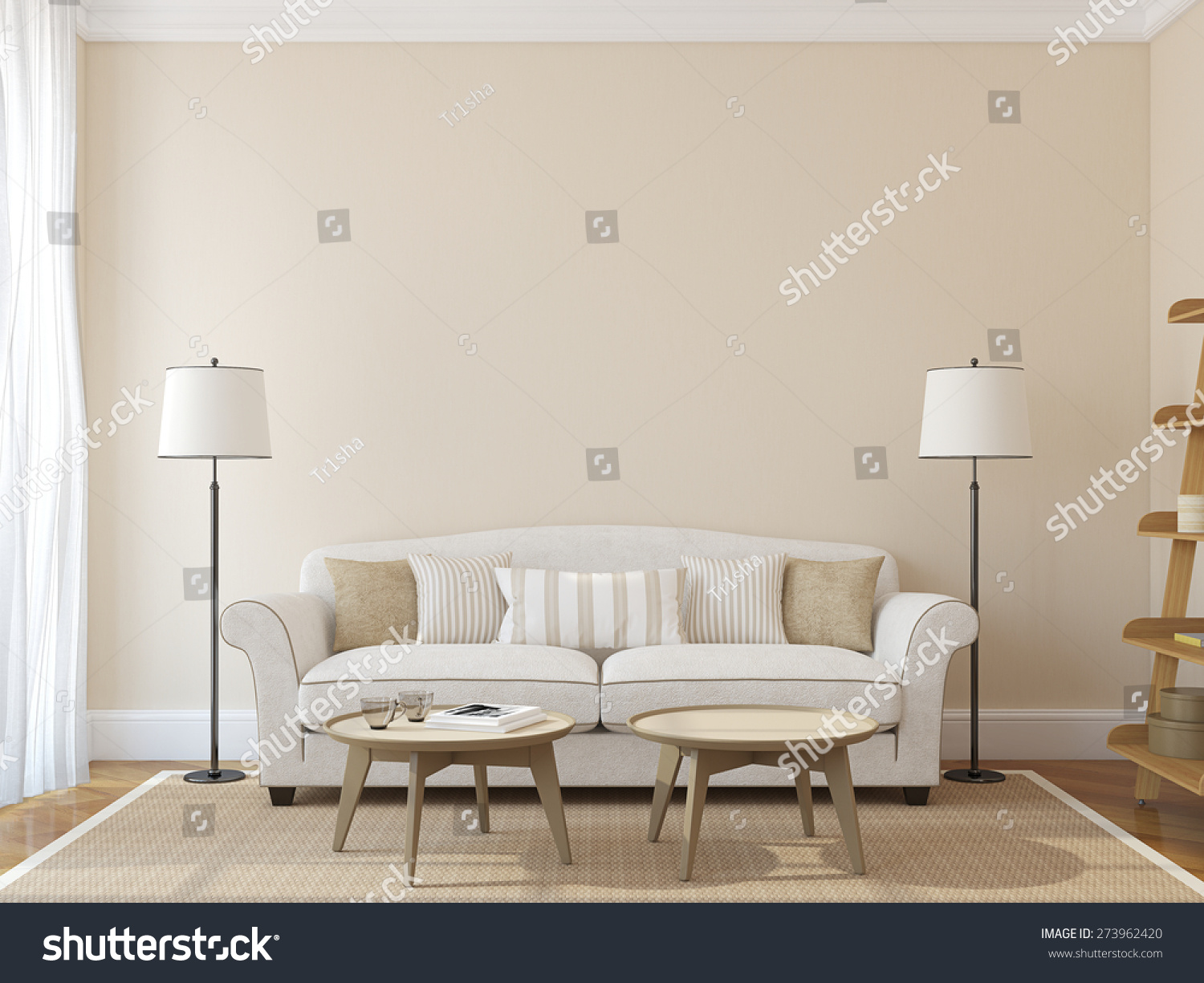 Living Room Beige Living Room Walls modern living room interior with white couch near empty beige wall save to a lightbox