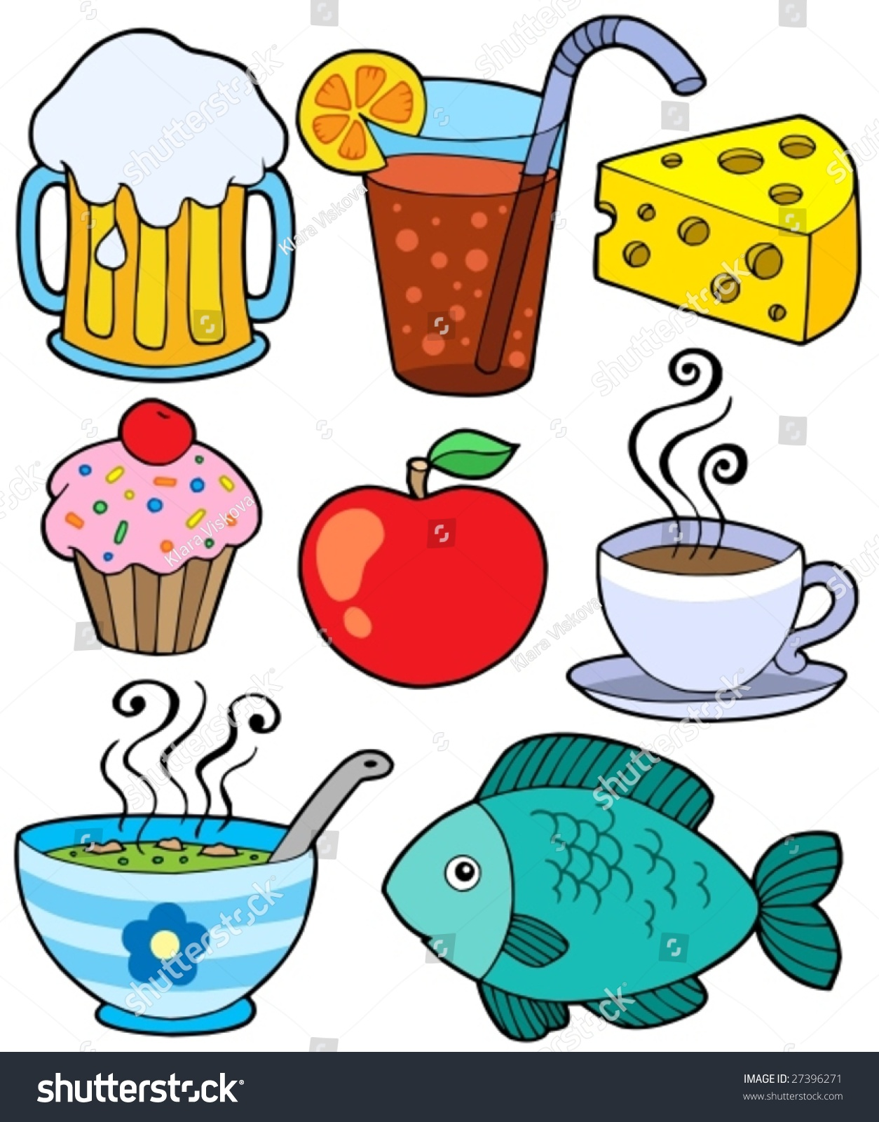 food and drink collection 1 vector illustration 27396271