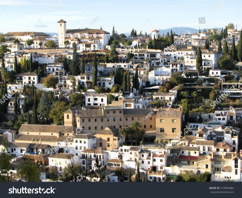Ancient Moorish Quarter El Granada Andalusia Stock Photo (Edit Now