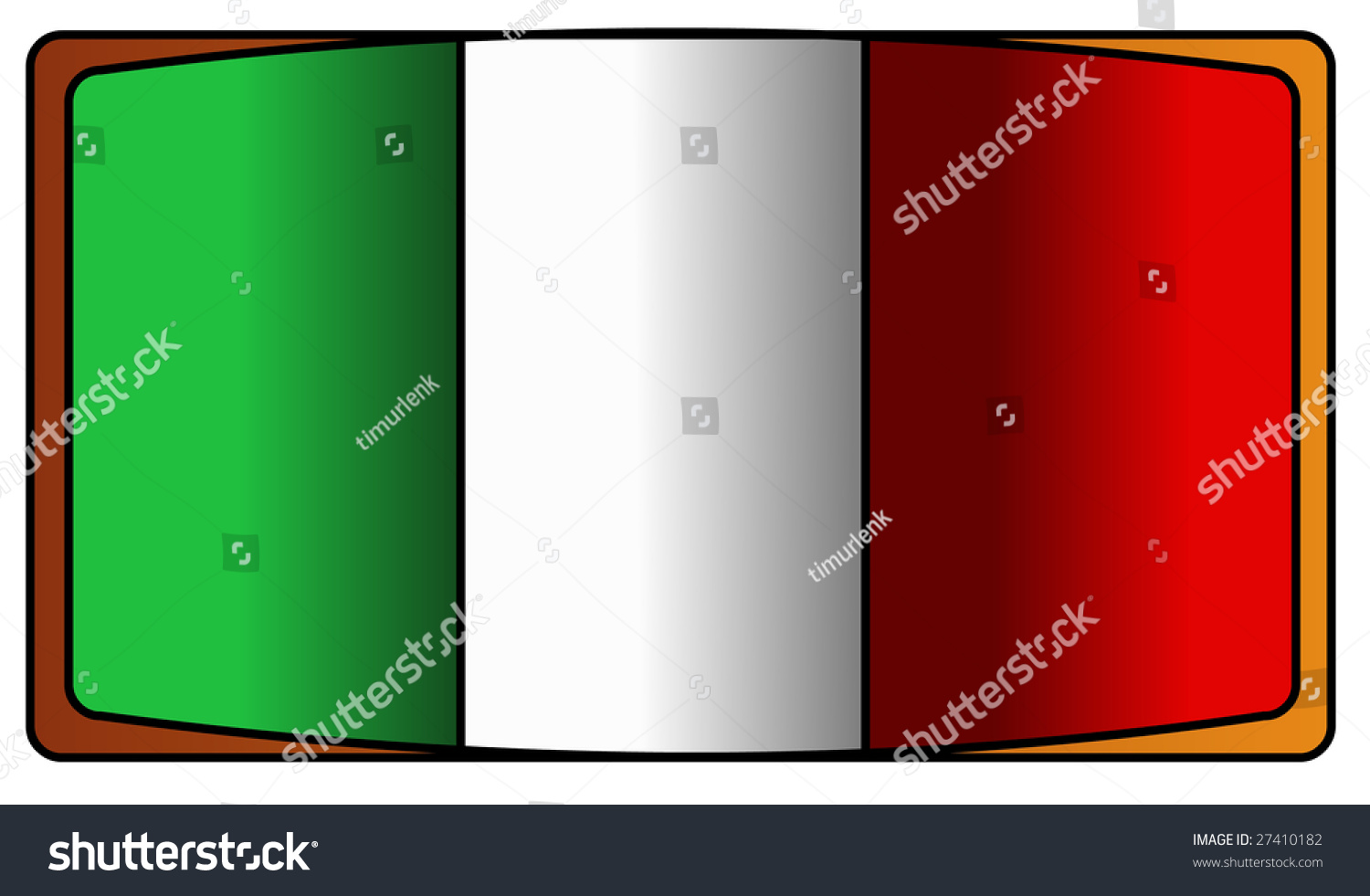 Flag italy green white red stock illustration 27410182 for Green italy