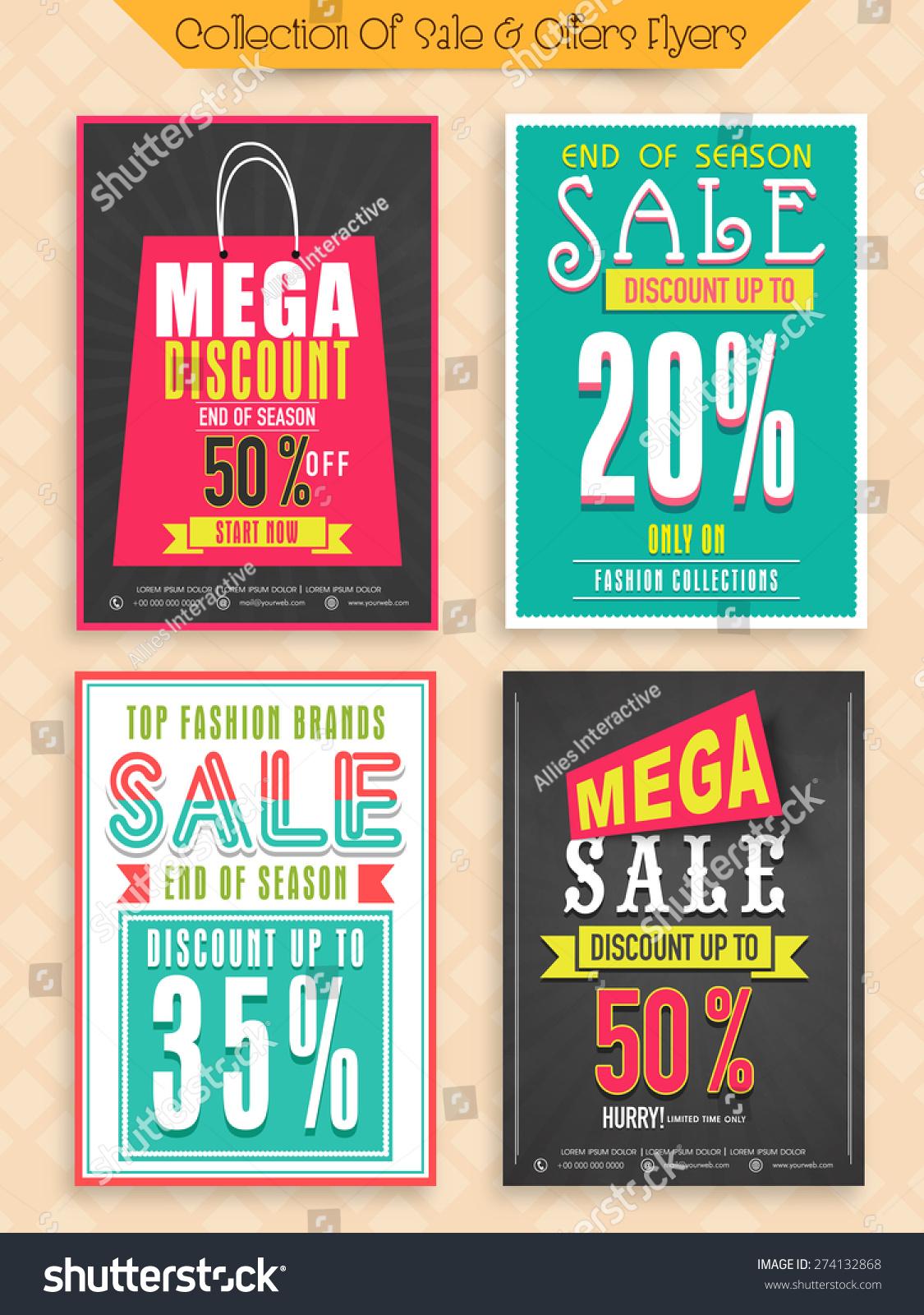 Top Fashion Brand Sale Mega Discount Stock Vector 274132868