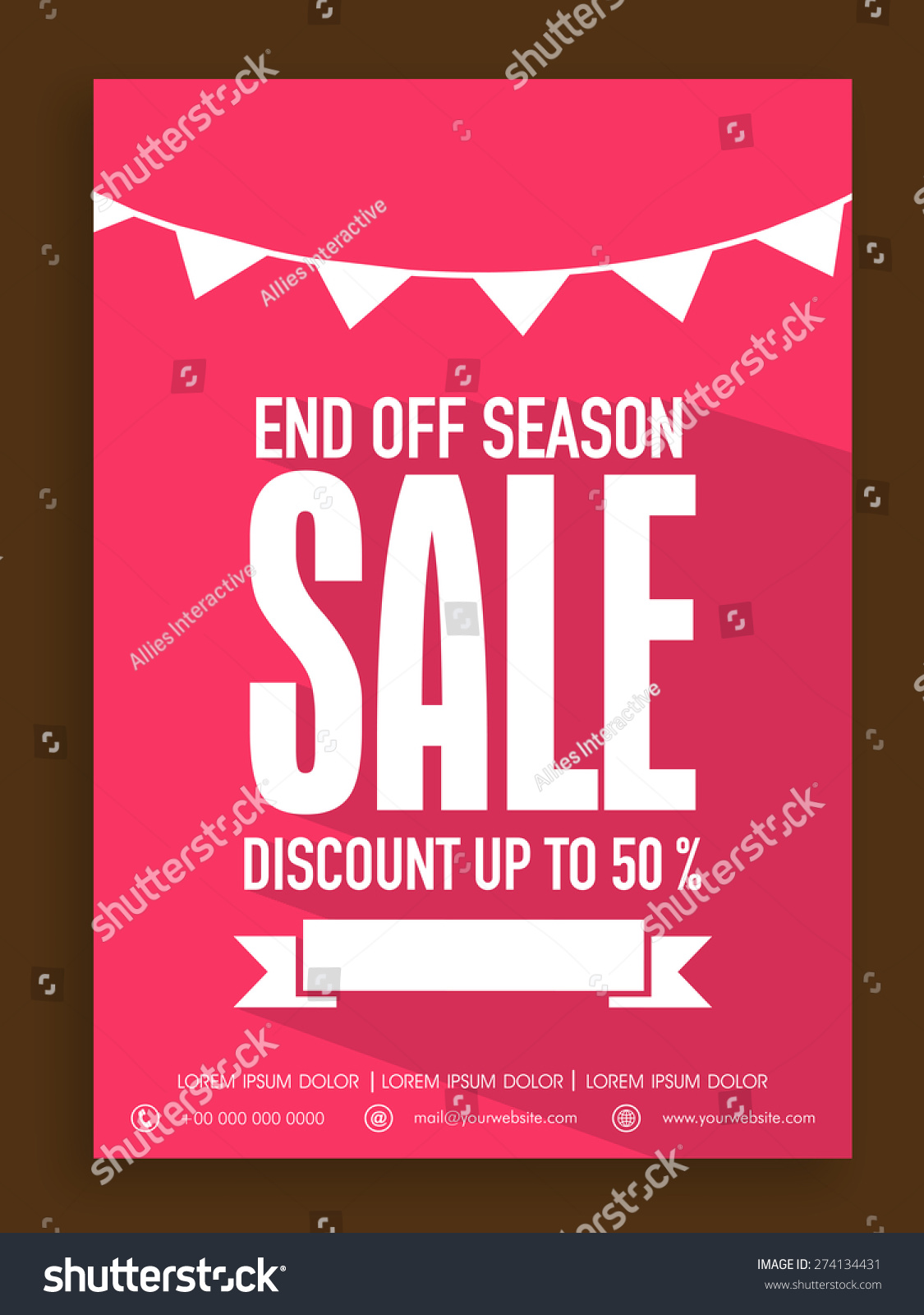 beautiful poster banner flyer design end stock vector  beautiful poster banner or flyer design for end of season discount offer