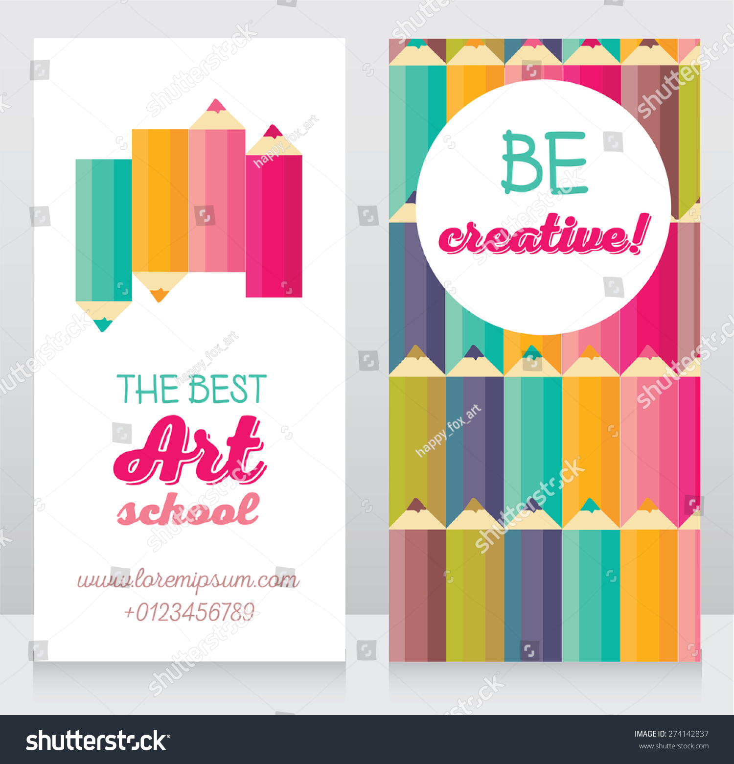 Business Cards Templates Art School Can Stock Vector 274142837 ...