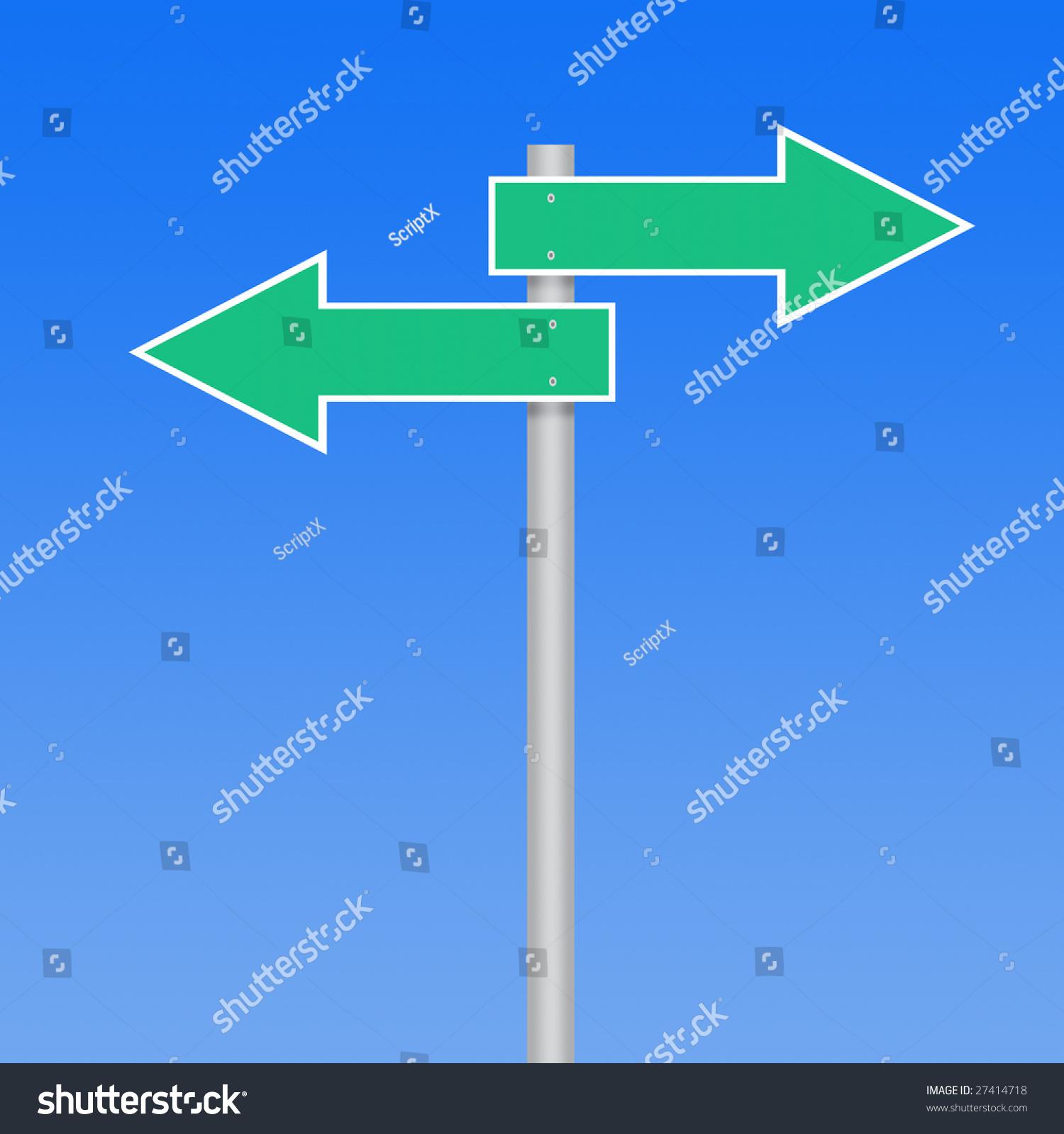 empty road sign arrows ez canvas