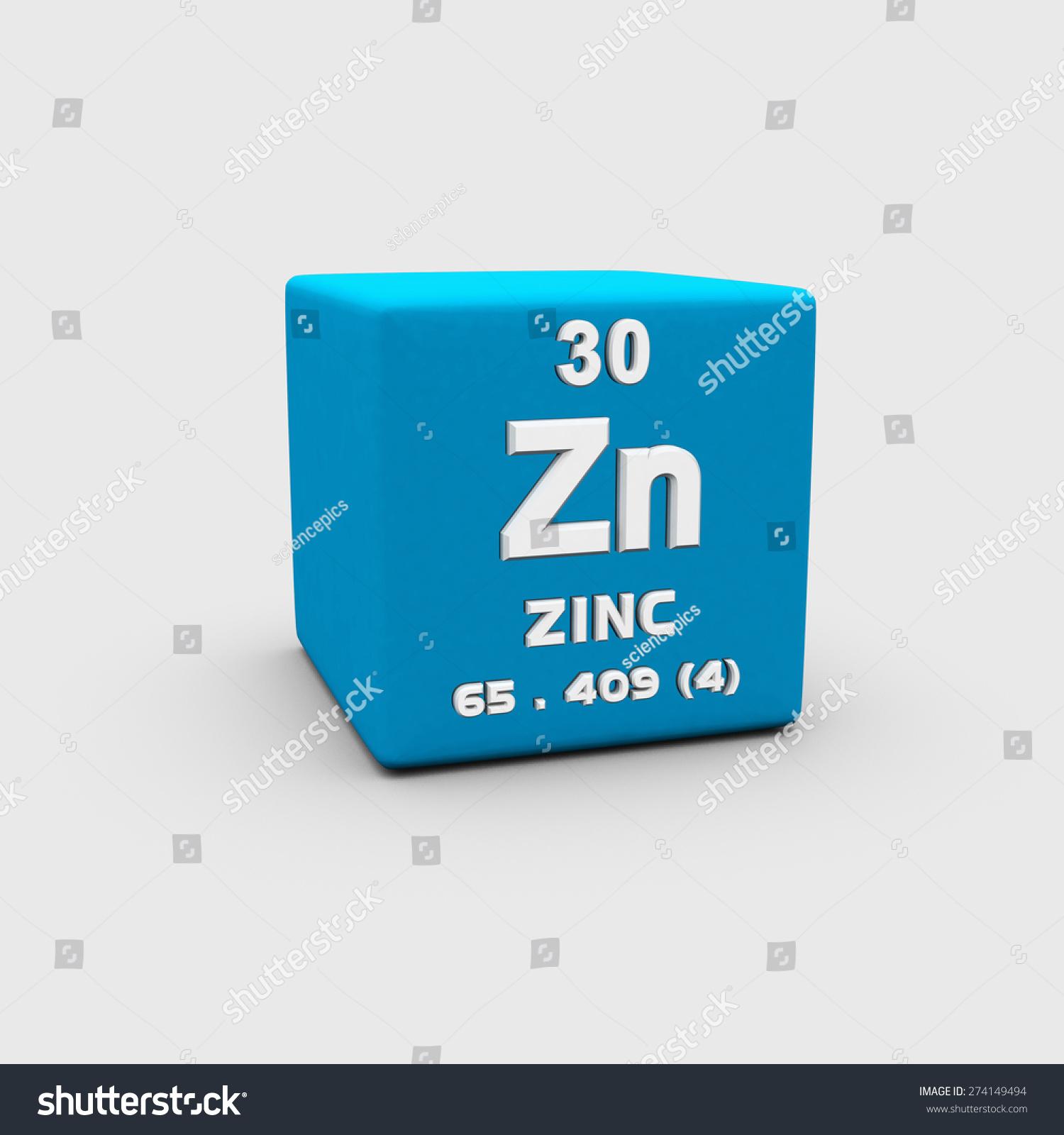 Atomic Number Zinc Stock Photo 274149494   Shutterstock