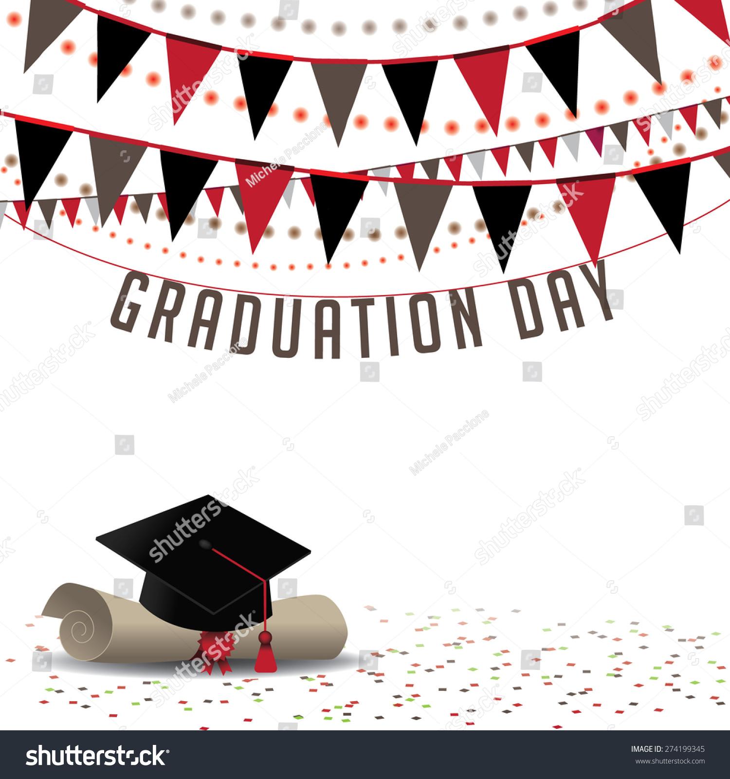 graduation day background eps 10 vector stock vector 274199345