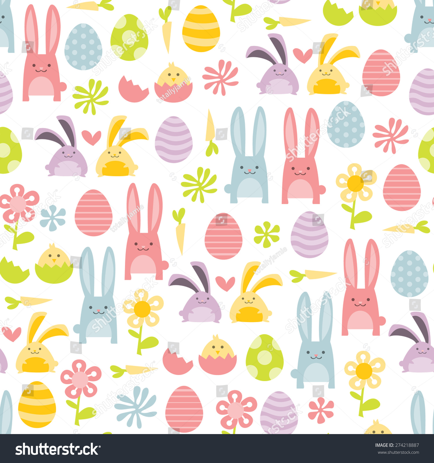 vector illustration happy sweet easter filled stock vector