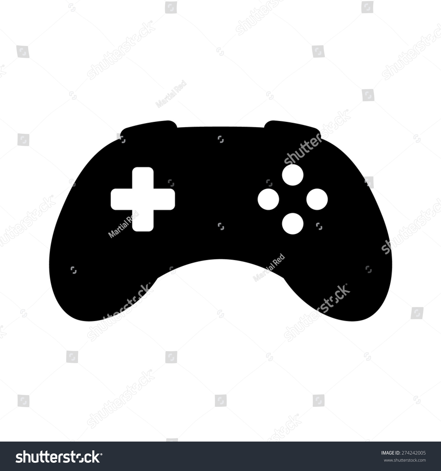 Videogame / Video Game Controller Or Gamepad Flat Icon For ...