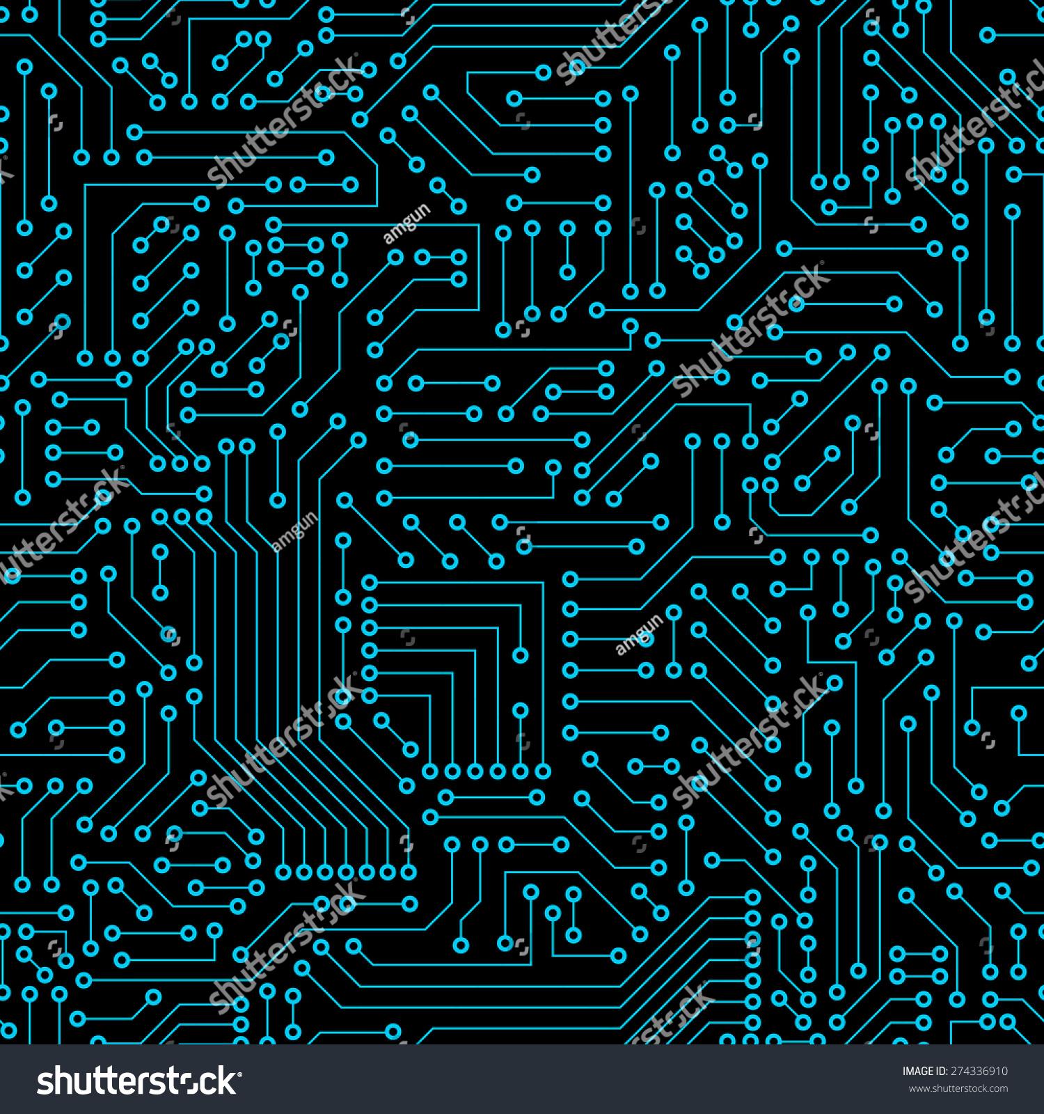 seamless pattern computer circuit board stock vector royalty free rh shutterstock com