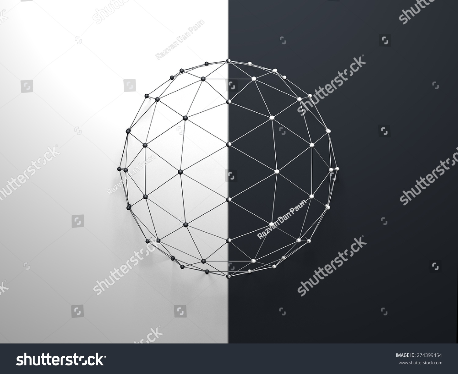Abstract Sphere Structure Background Stock Illustration 274399454 ...