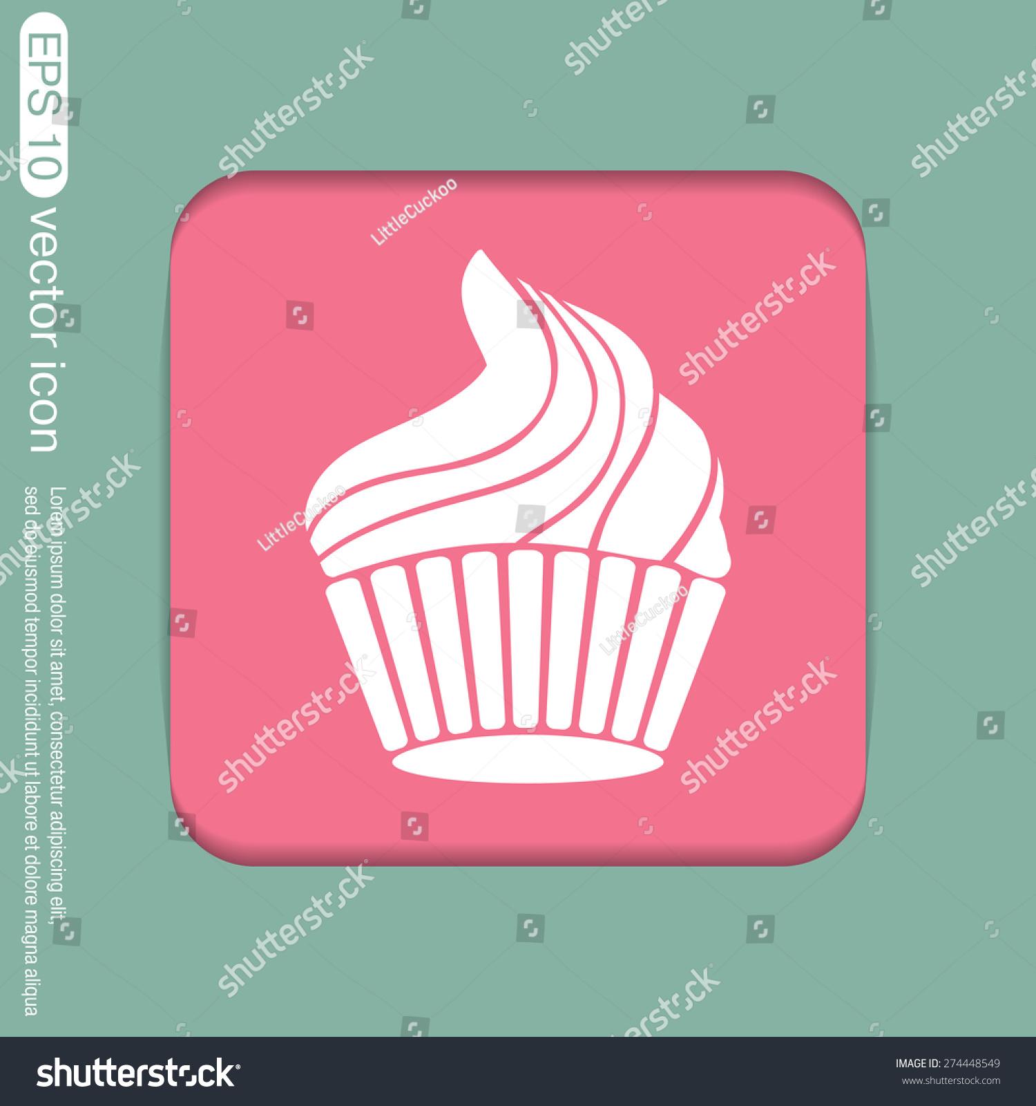 Birthday cake icon symbol cake celebrating stock vector 274448549 birthday cake icon symbol of cake celebrating the birthday of the loaf biocorpaavc