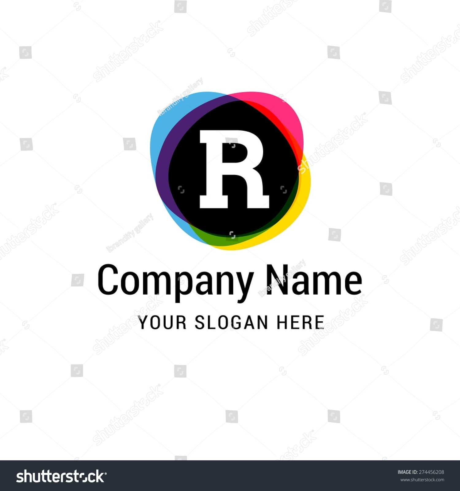 Letter R logo icon design   alphabet letter   Stylish typographic template  elements   corporate identity. Letter R Logo Icon Design Alphabet Stock Vector 274456208