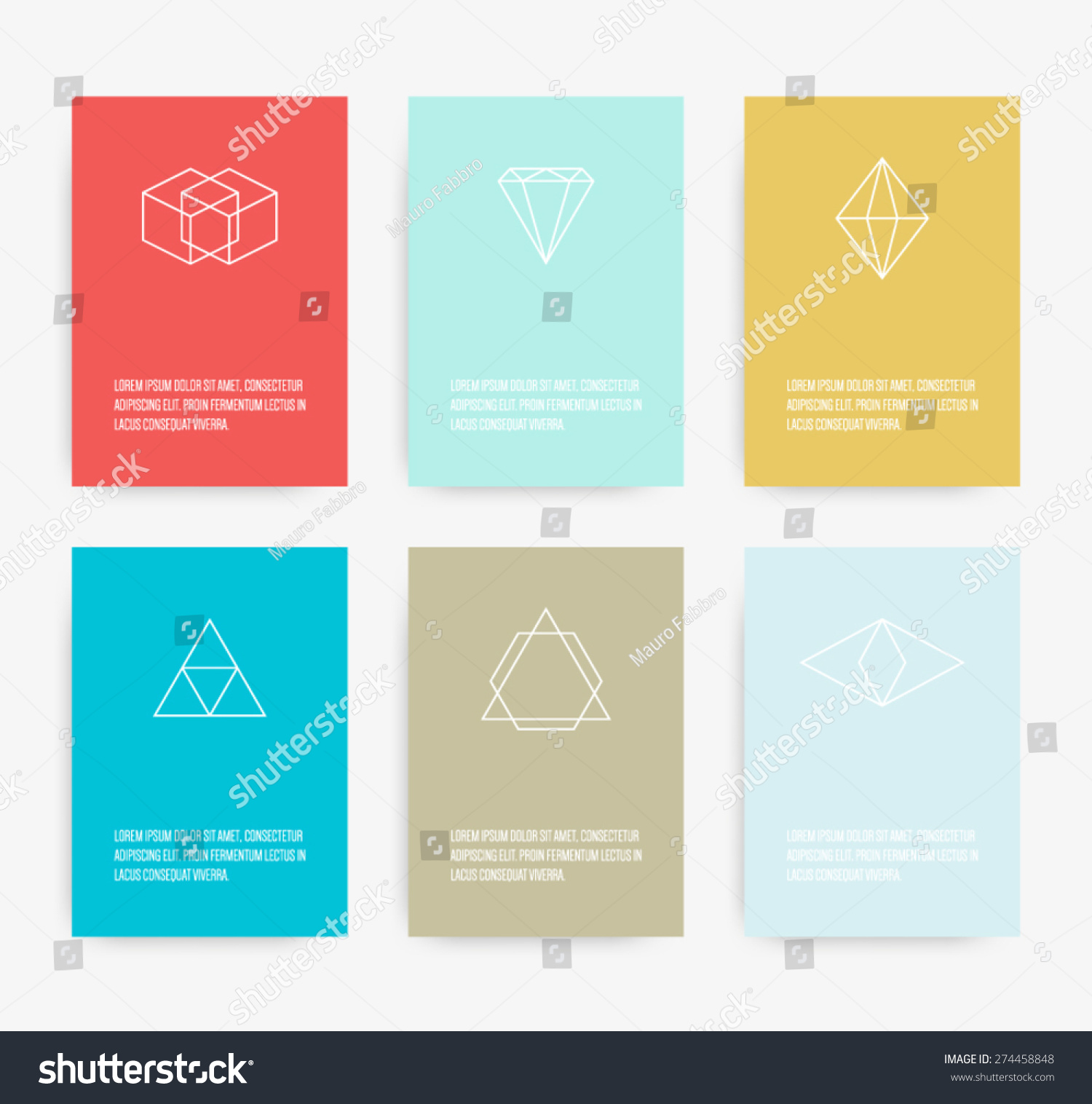 Set Business Card Geometric Line Symbols Stock Vector 274458848 ...