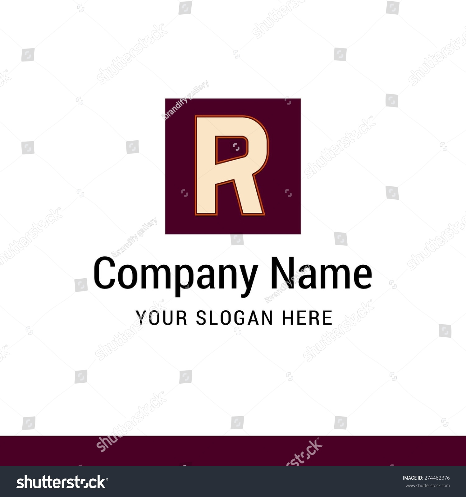Letter R logo icon design   alphabet letter   Stylish Colorful typographic  template elements   shiny. Letter R Logo Icon Design Alphabet Stock Vector 274462376