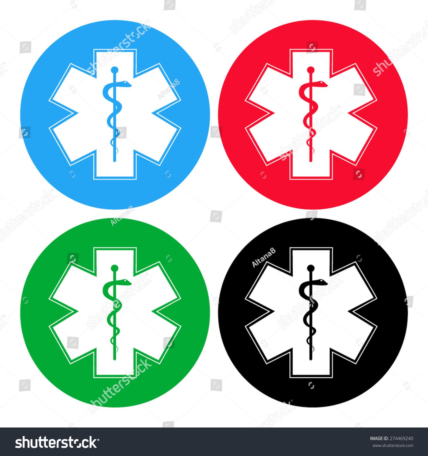 Medical Symbol Emergency Star Life Icon Stock Vector Royalty Free