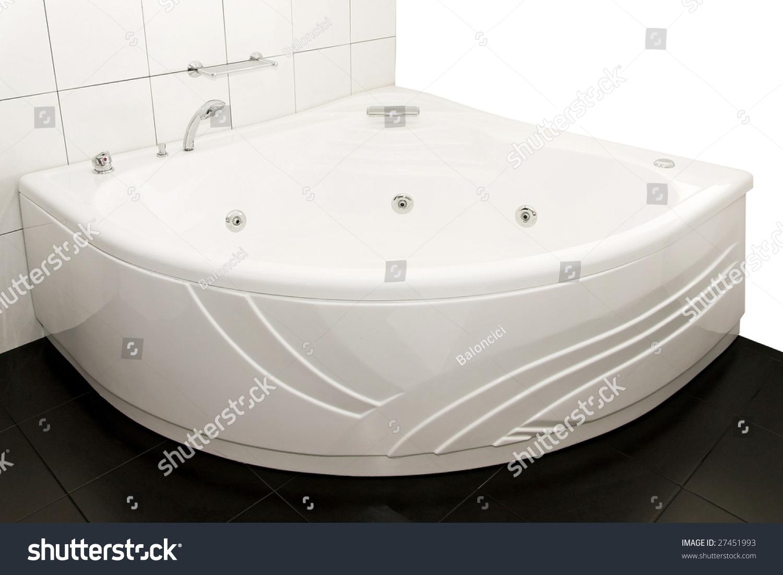 Big Bathtub Corner Hydro Massage Stock Photo (Edit Now) 27451993 ...