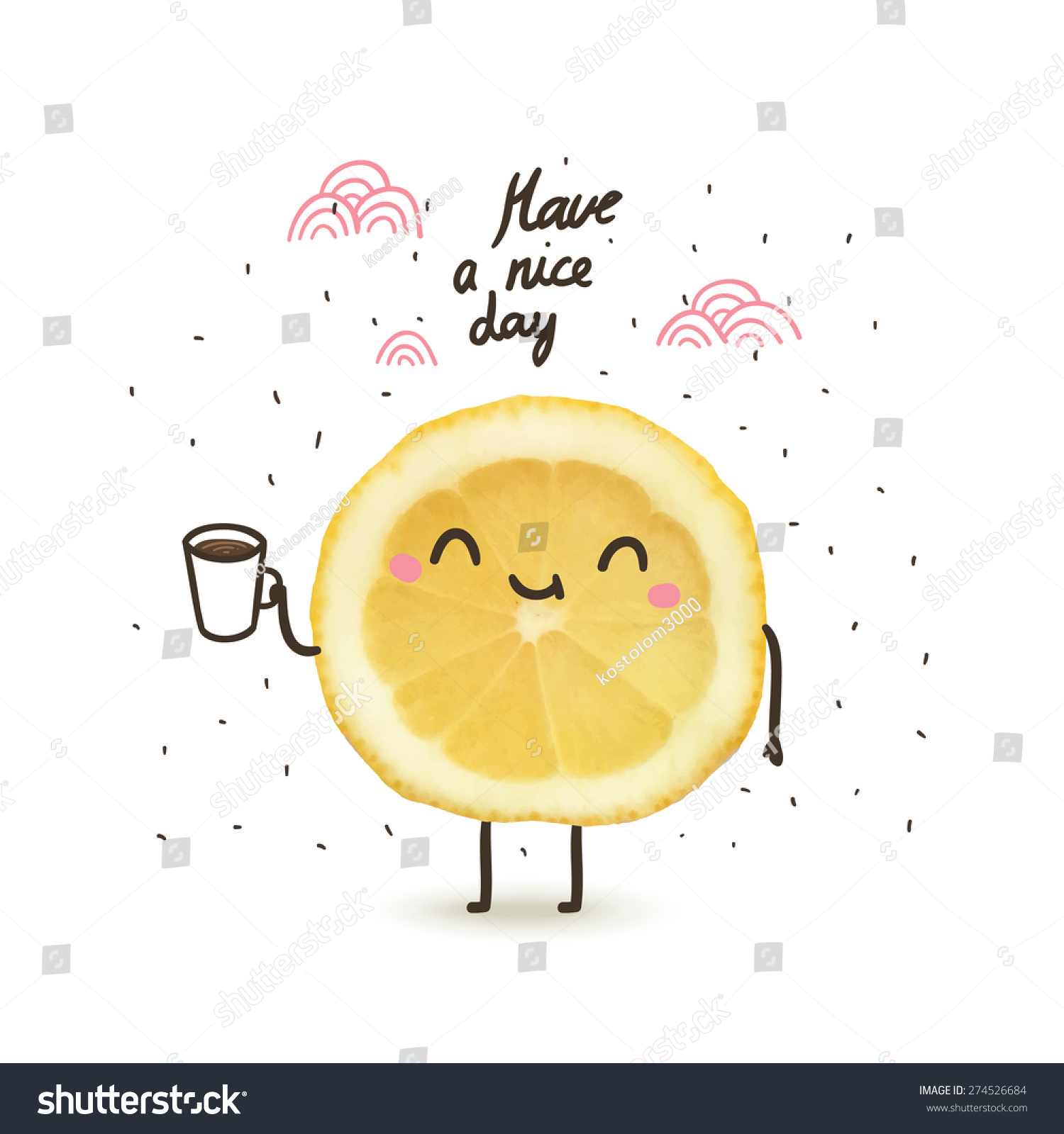 stock-vector-have-a-nice-day-cute-funny-cartoon-illustration-with-lemon-drinking-coffee-or-tea-274526684.jpg