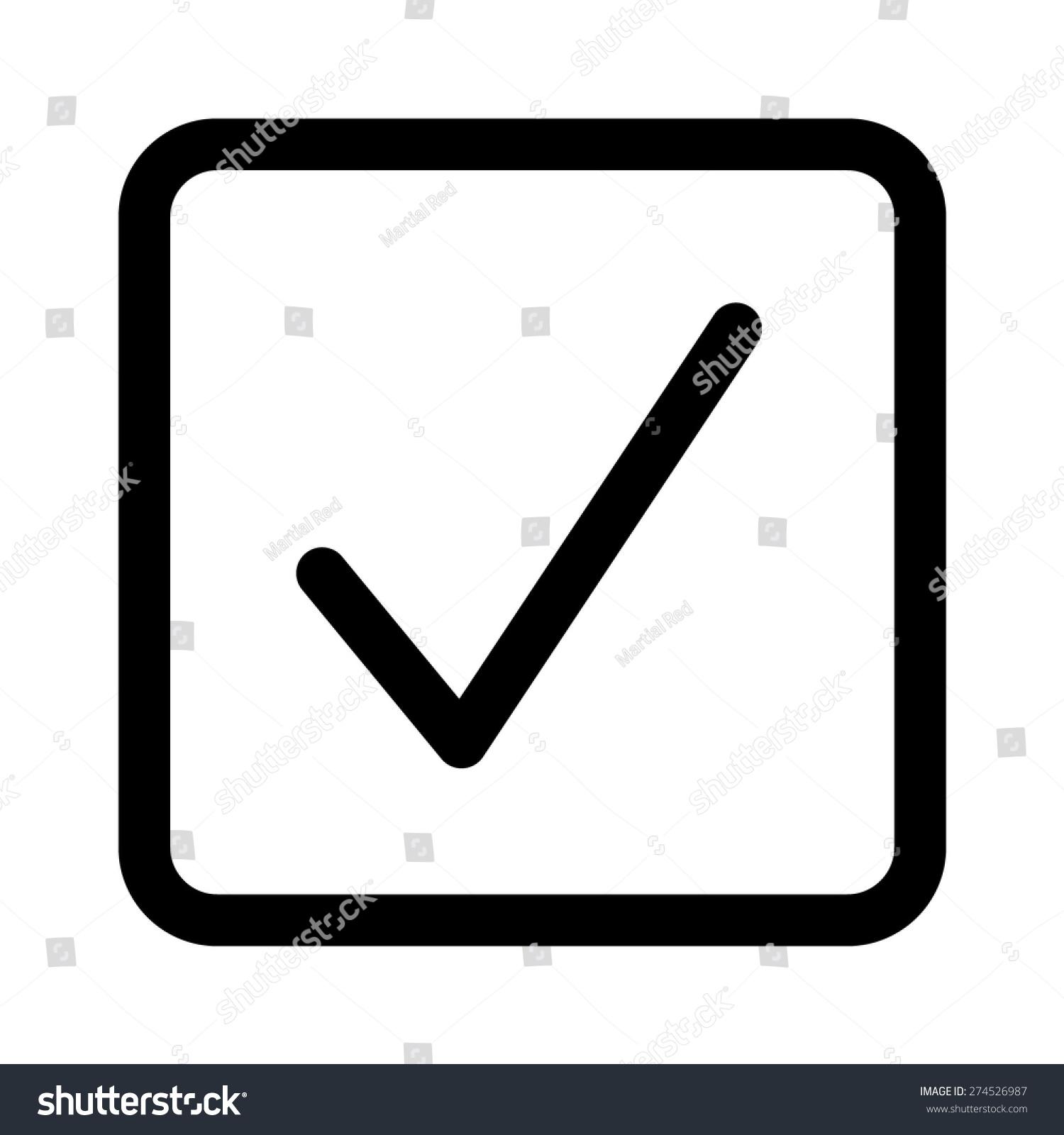 Square checkbox check box line art stock vector 274526987 square checkbox or check box line art icon for apps and websites biocorpaavc Gallery