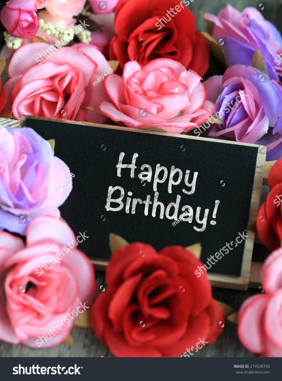 Birthday wishes flowers background stock photo edit now 274538750 birthday wishes with flowers in the background izmirmasajfo