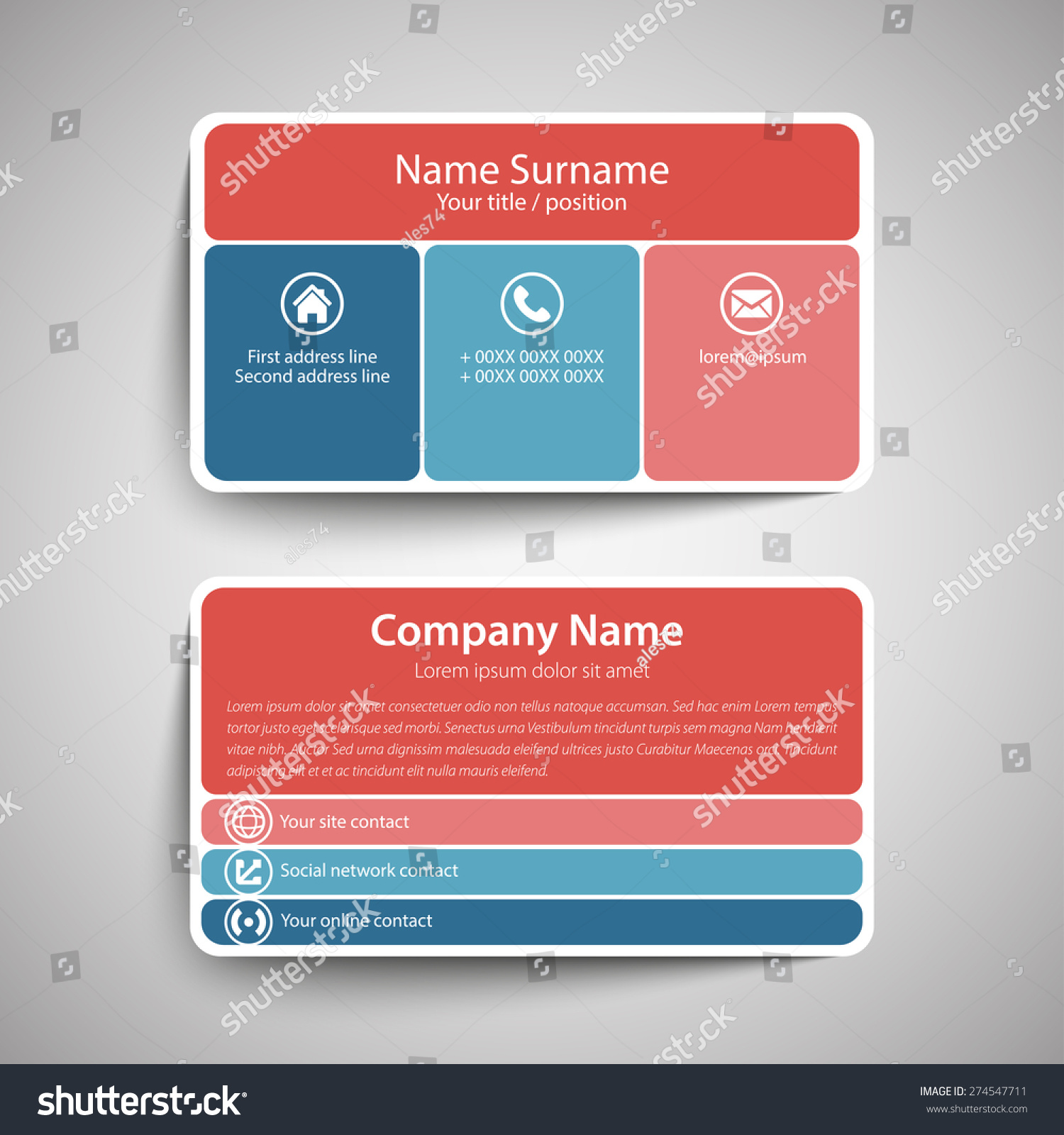 format of a business card - Roberto.mattni.co