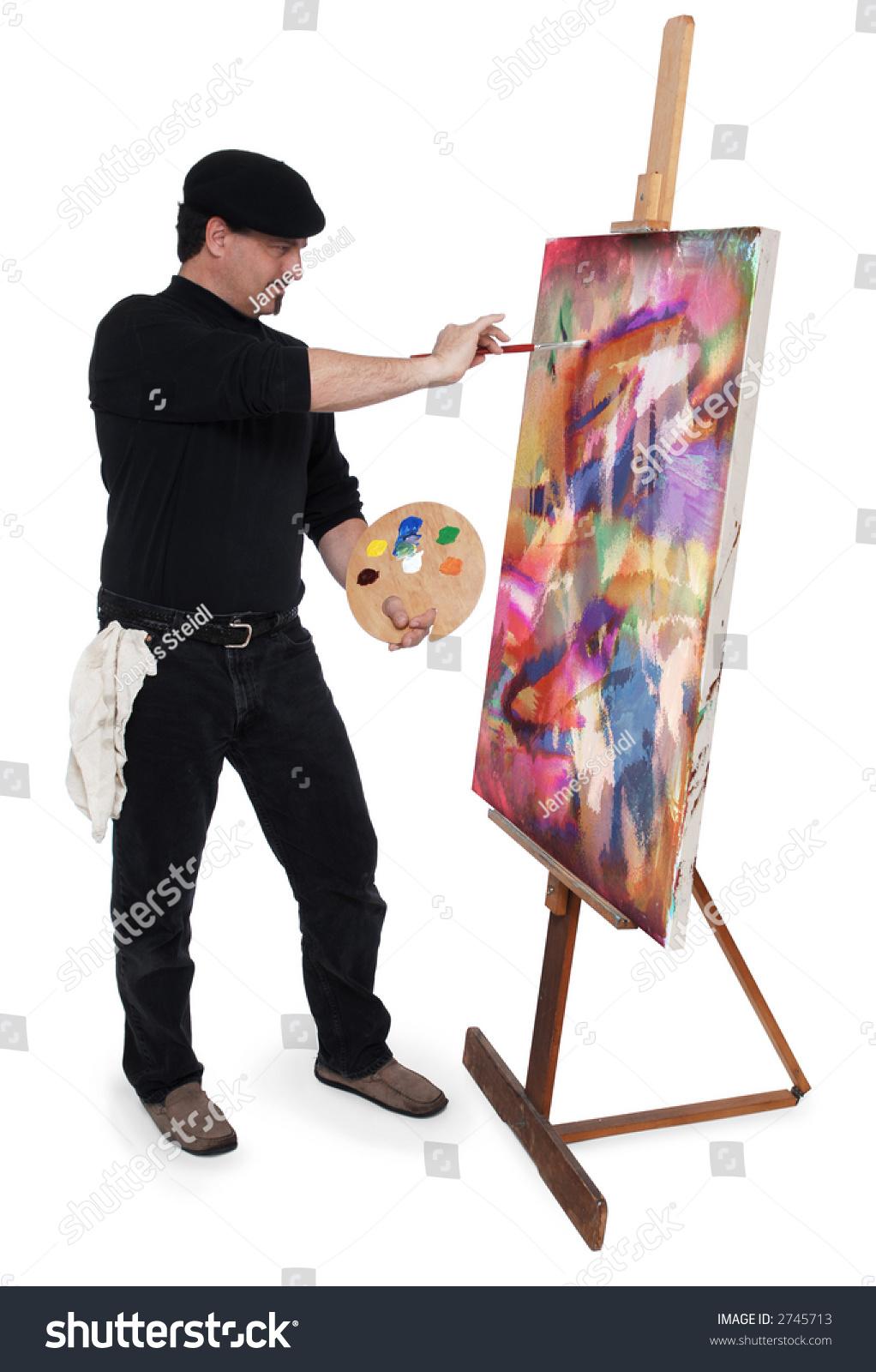 Fine art painter weari...