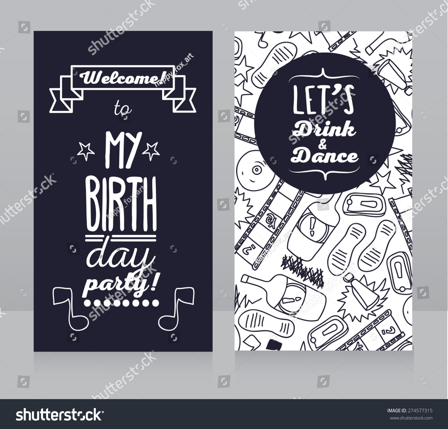 Birthday party invitation vector illustration stock vector birthday party invitation vector illustration stopboris Image collections