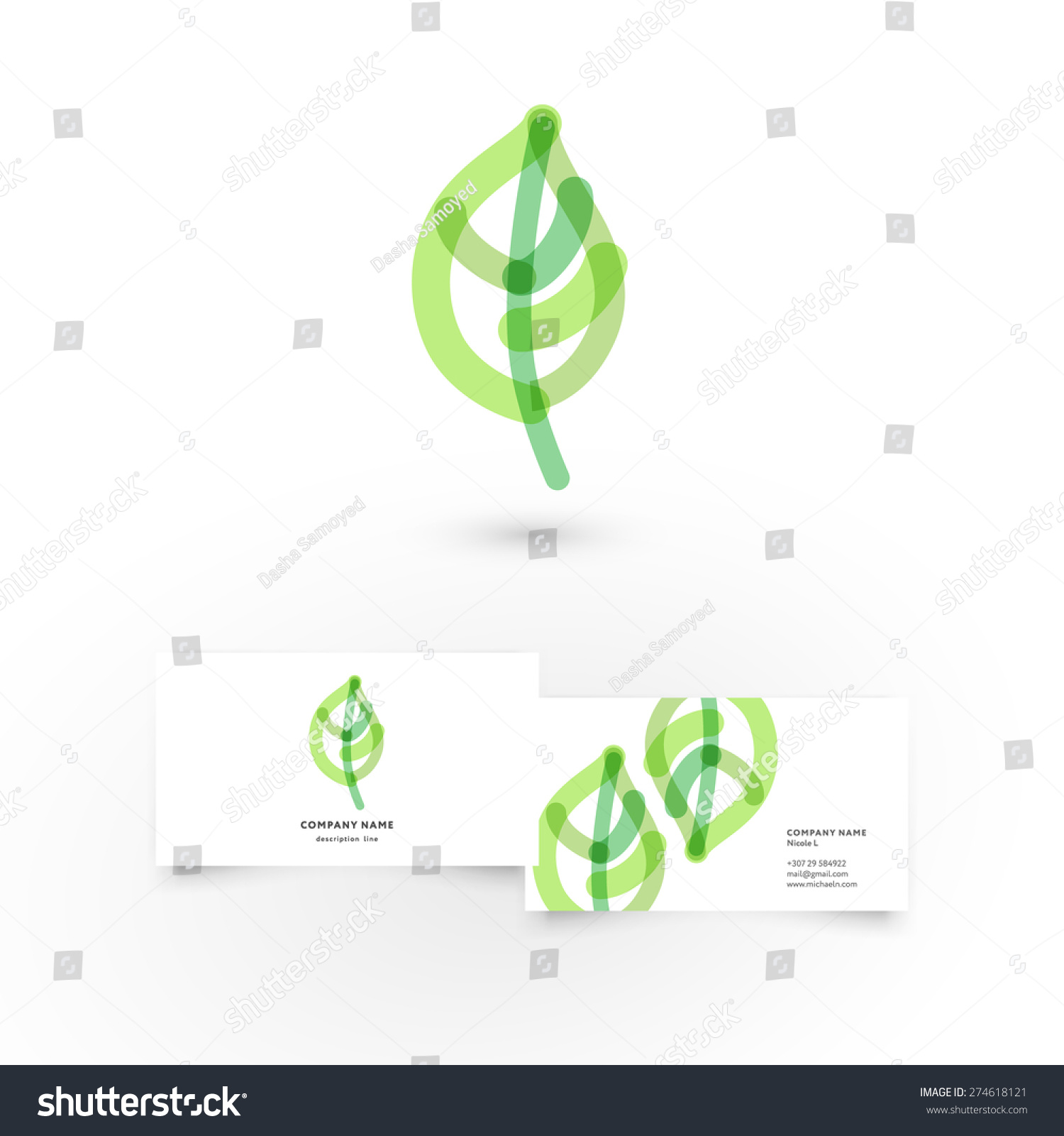 modern icon design leaf heart shape stock vector