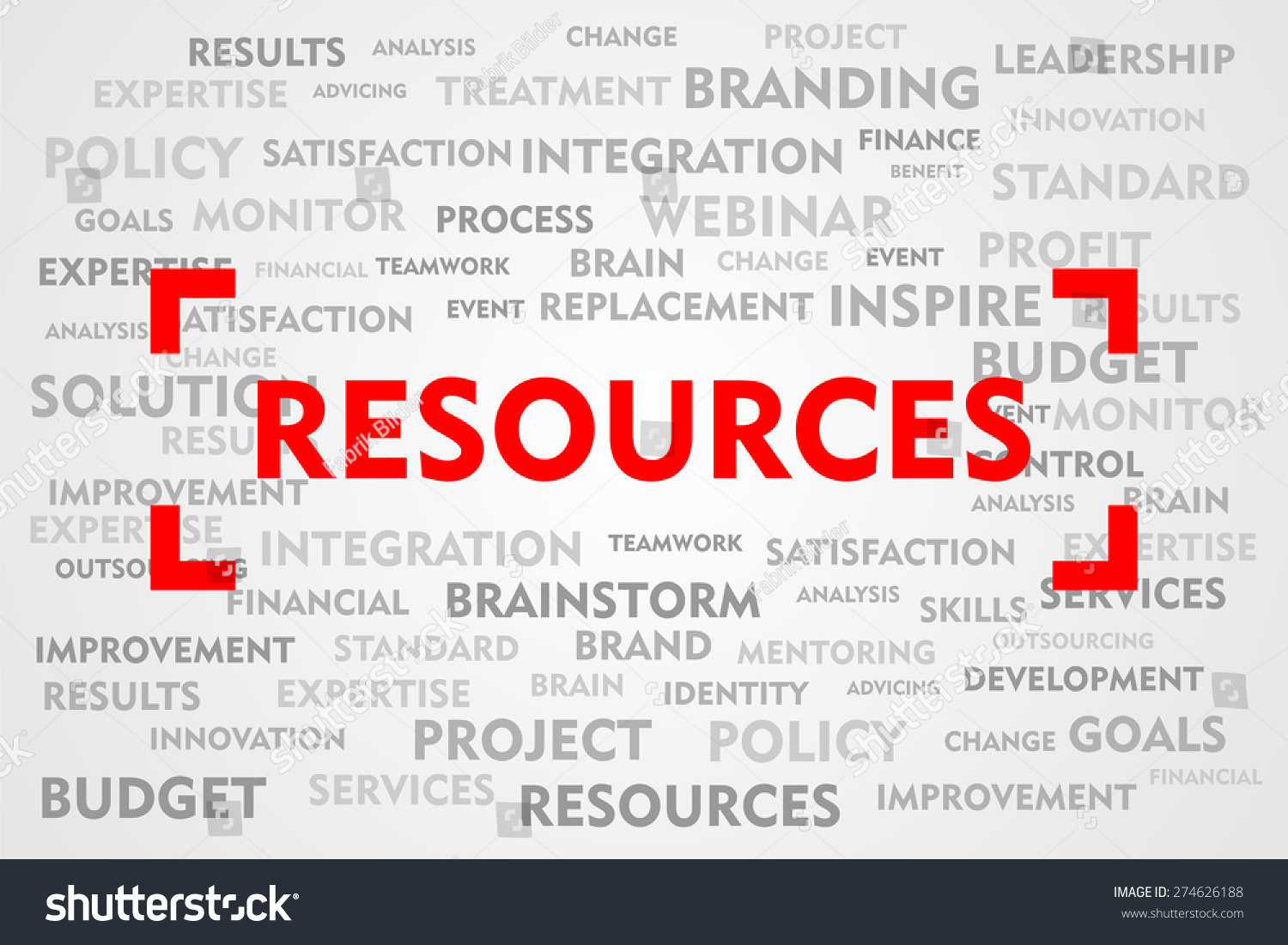 Royalty Free Stock Illustration of RESOURCES Word Business