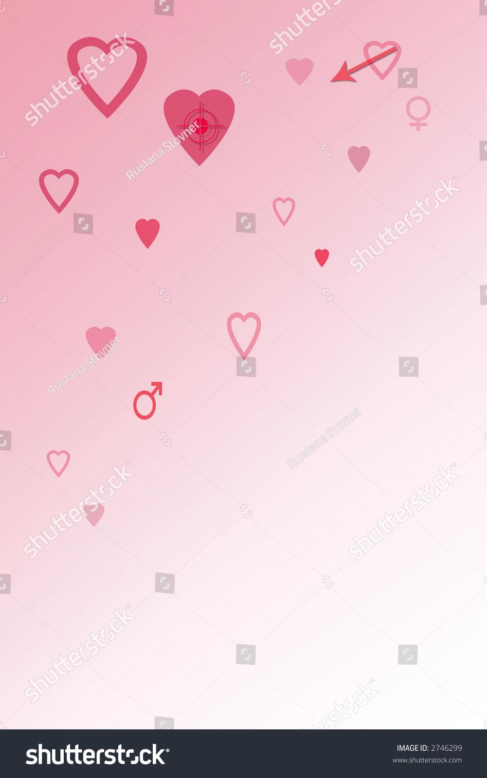 Pink Heart Balloons Background Vector Illustration Ez Canvas