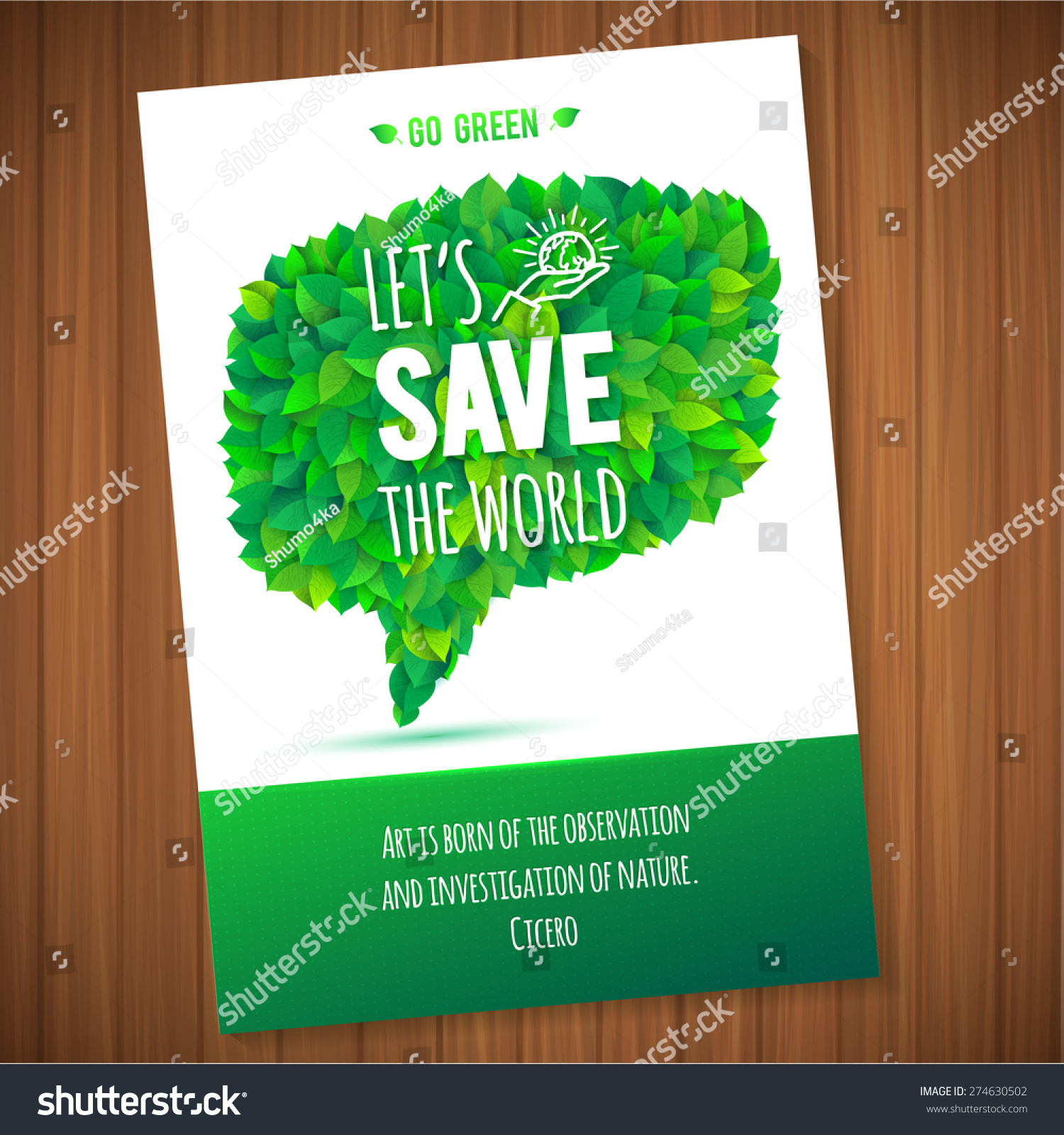 Nature Ecology: Nature Ecology Green Bubble Leaves Concept Stock Vector