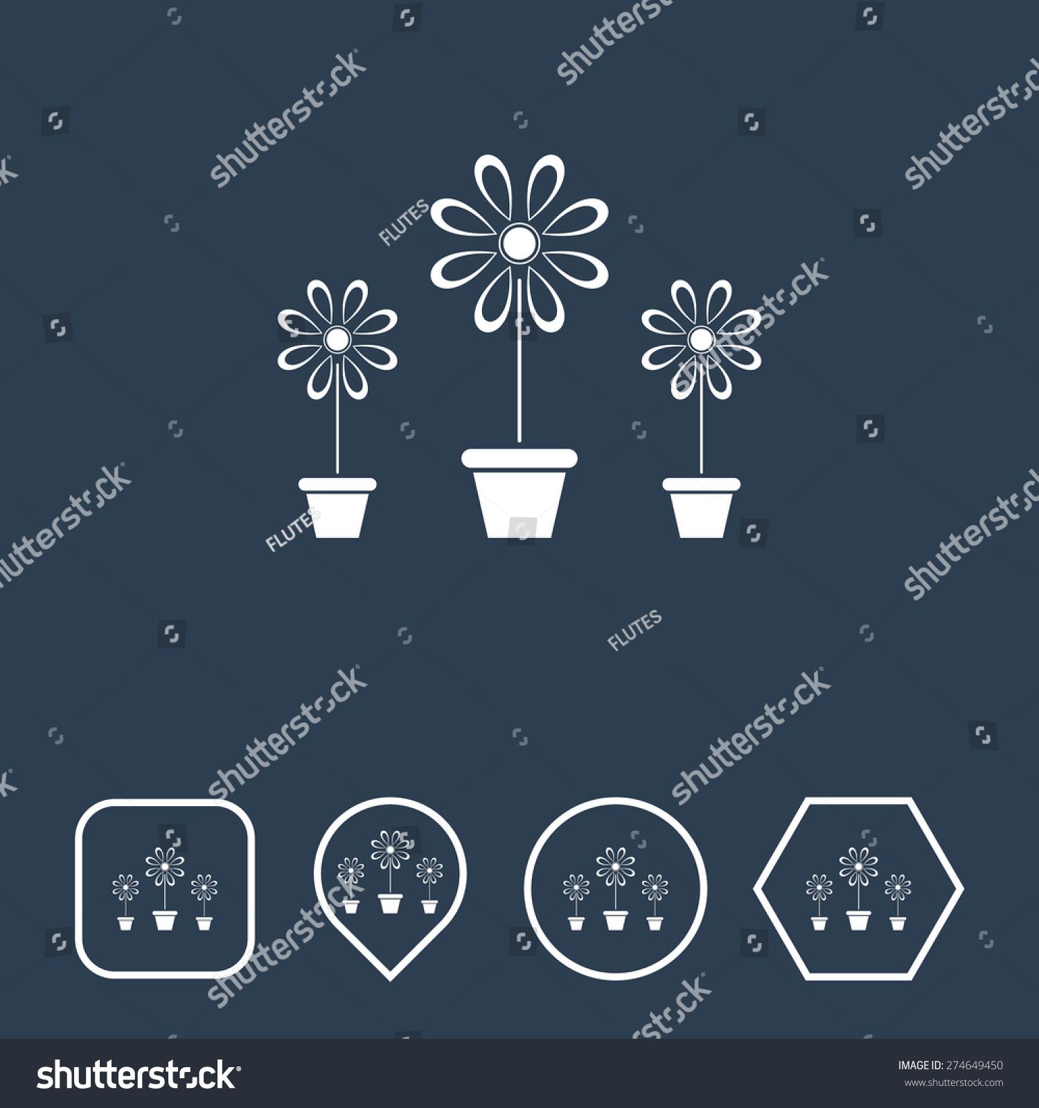 Flower vase icon on flat ui stock vector 274649450 shutterstock flower vase icon on flat ui colors with different shapes eps 10 reviewsmspy