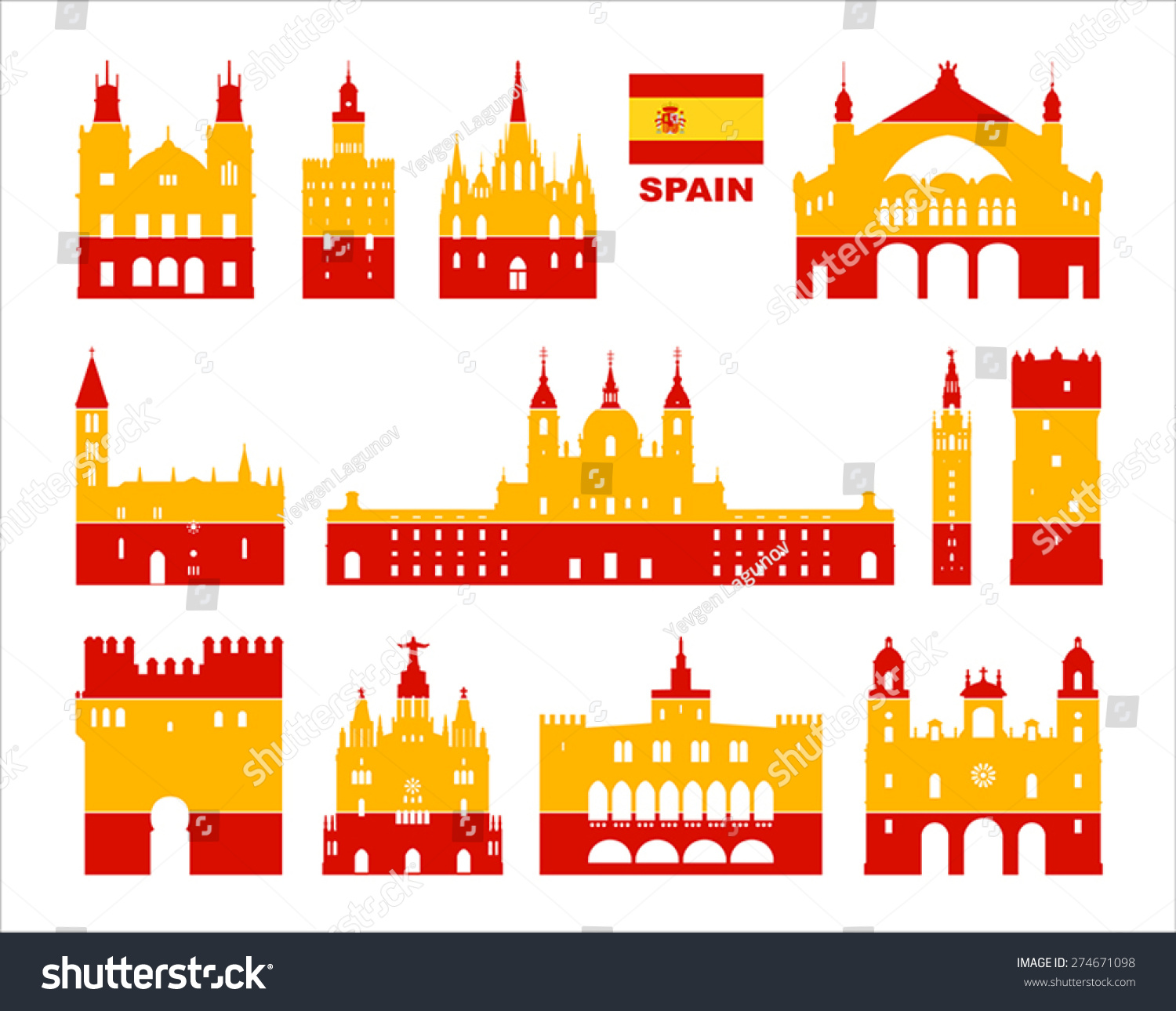 Spain Background Design Spanish Traditional Sticker ...