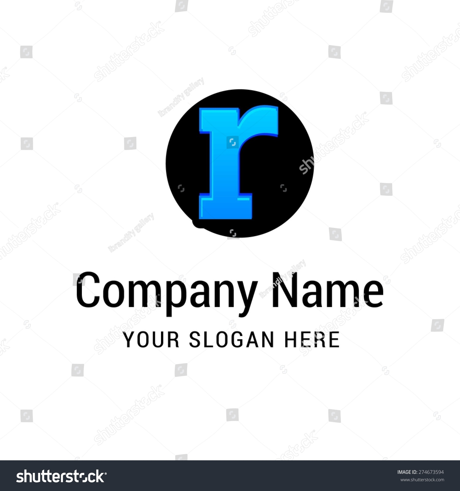 Letter r logo icon design   alphabet letter   Stylish Colorful typographic  template elements   shiny. Letter R Logo Icon Design Alphabet Stock Vector 274673594