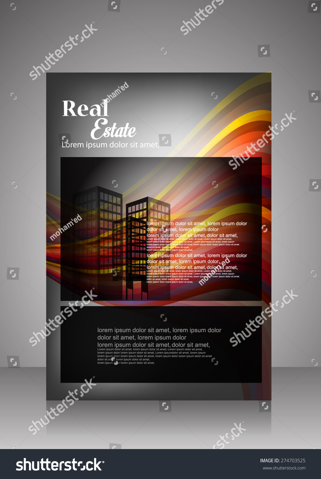 vector real estate flyer brochure template stock vector 274703525 vector real estate flyer brochure template