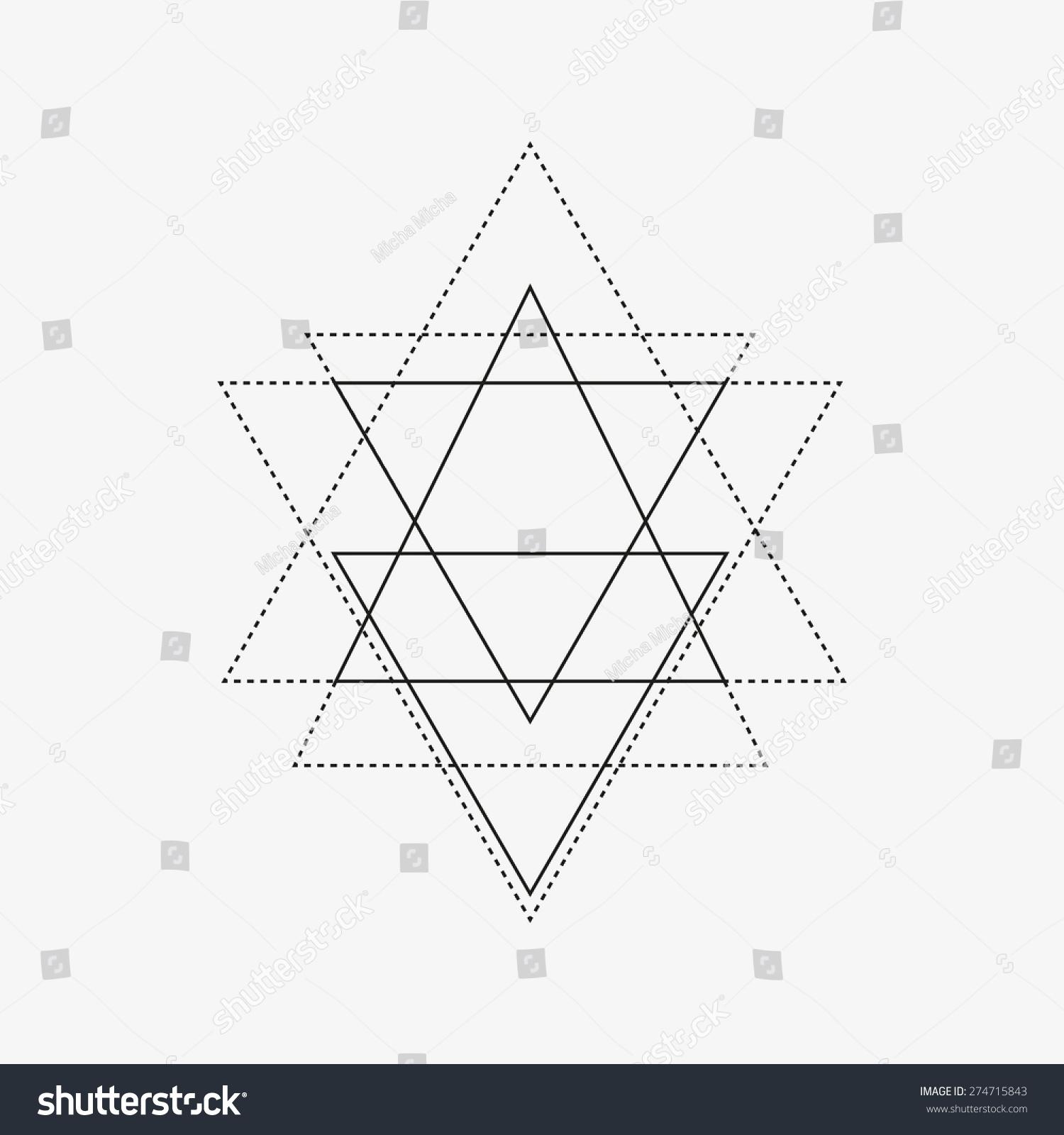 Line And Shape Design : Geometric shape triangle polygonal line art stock vector