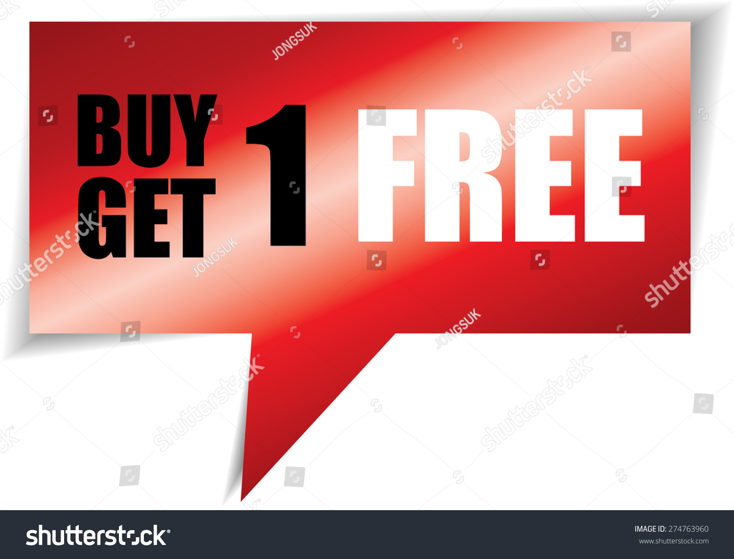 buy one get one speech stock illustration  buy one get one speech black square template promotional