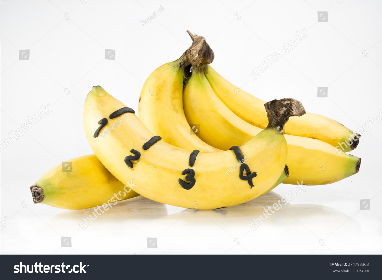 Banana Number Length On Yellow Peel Stock Photo 274793363 - Shutterstock-7608