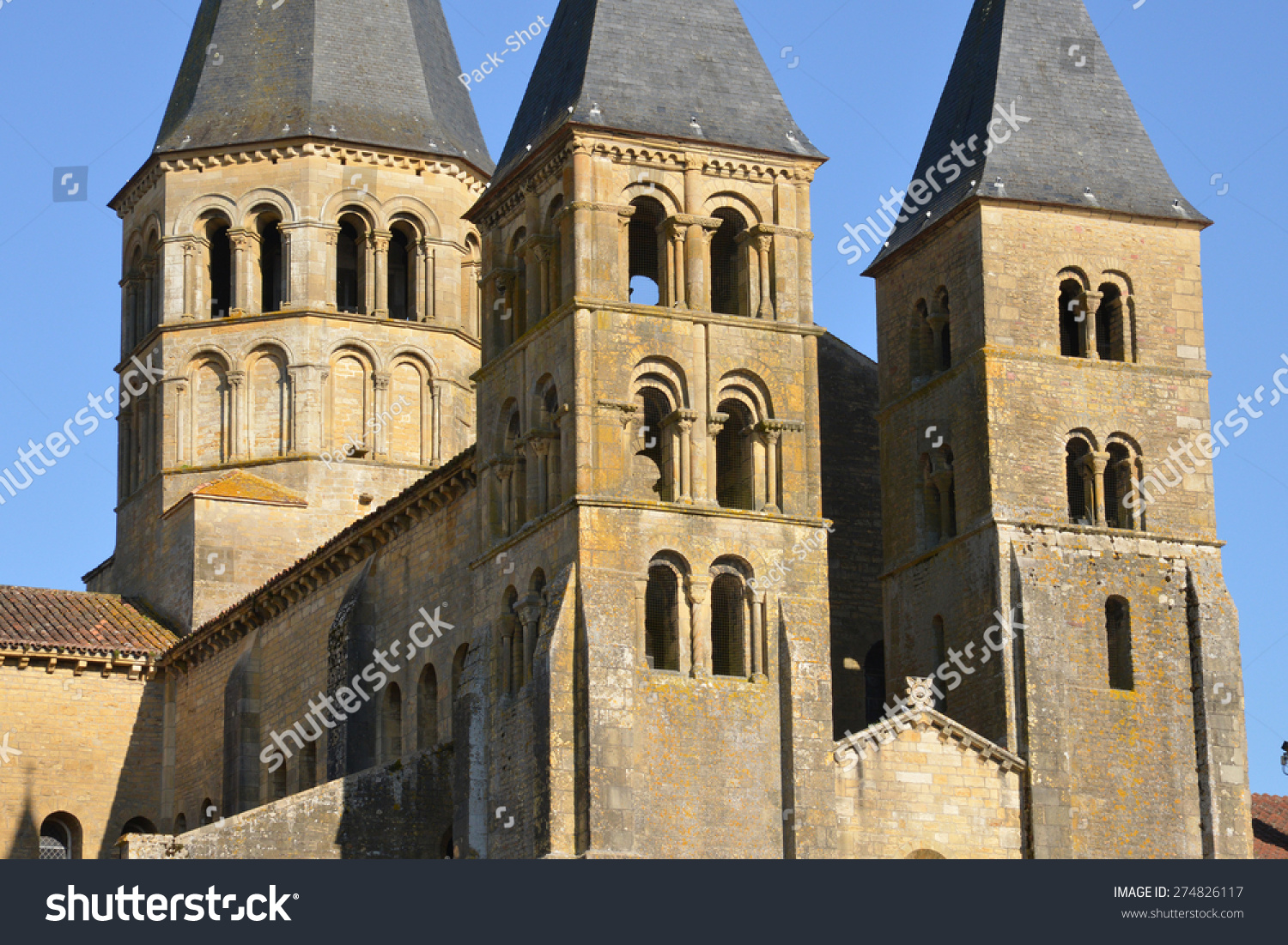 Architecte Paray Le Monial bourgogne picturesque basilica paray le monial stock image