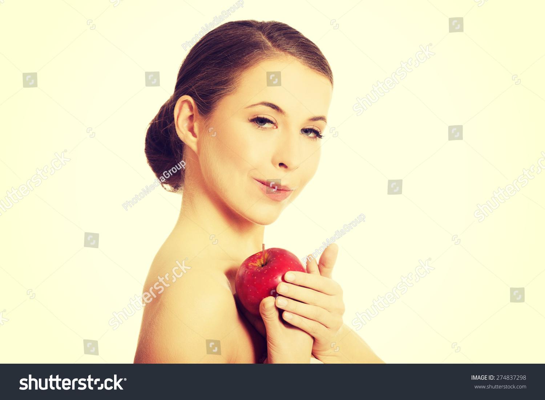 Naked girl duck face