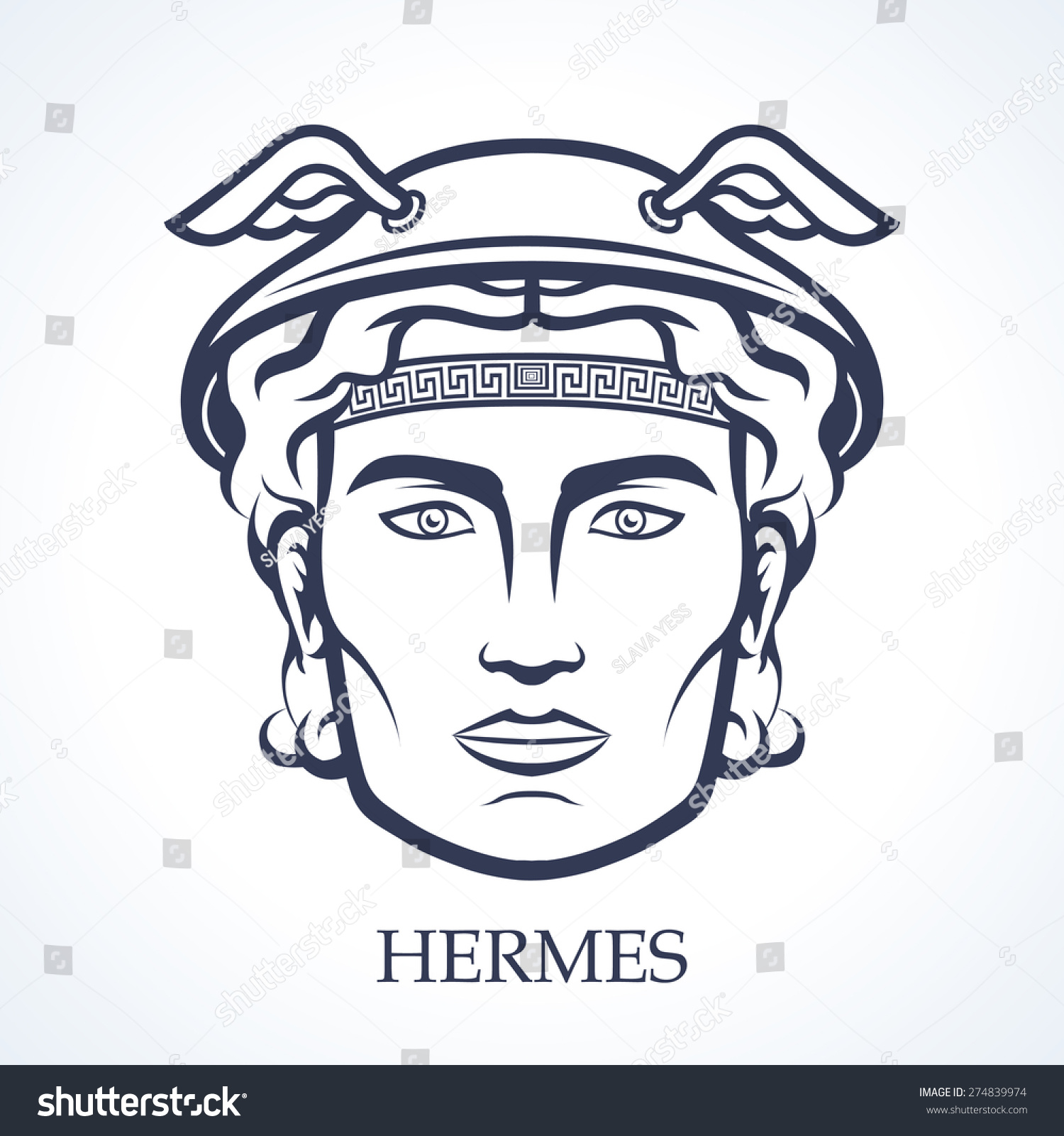 Hermes Ancient Greek God Commerce Tradesmanship Stock ...