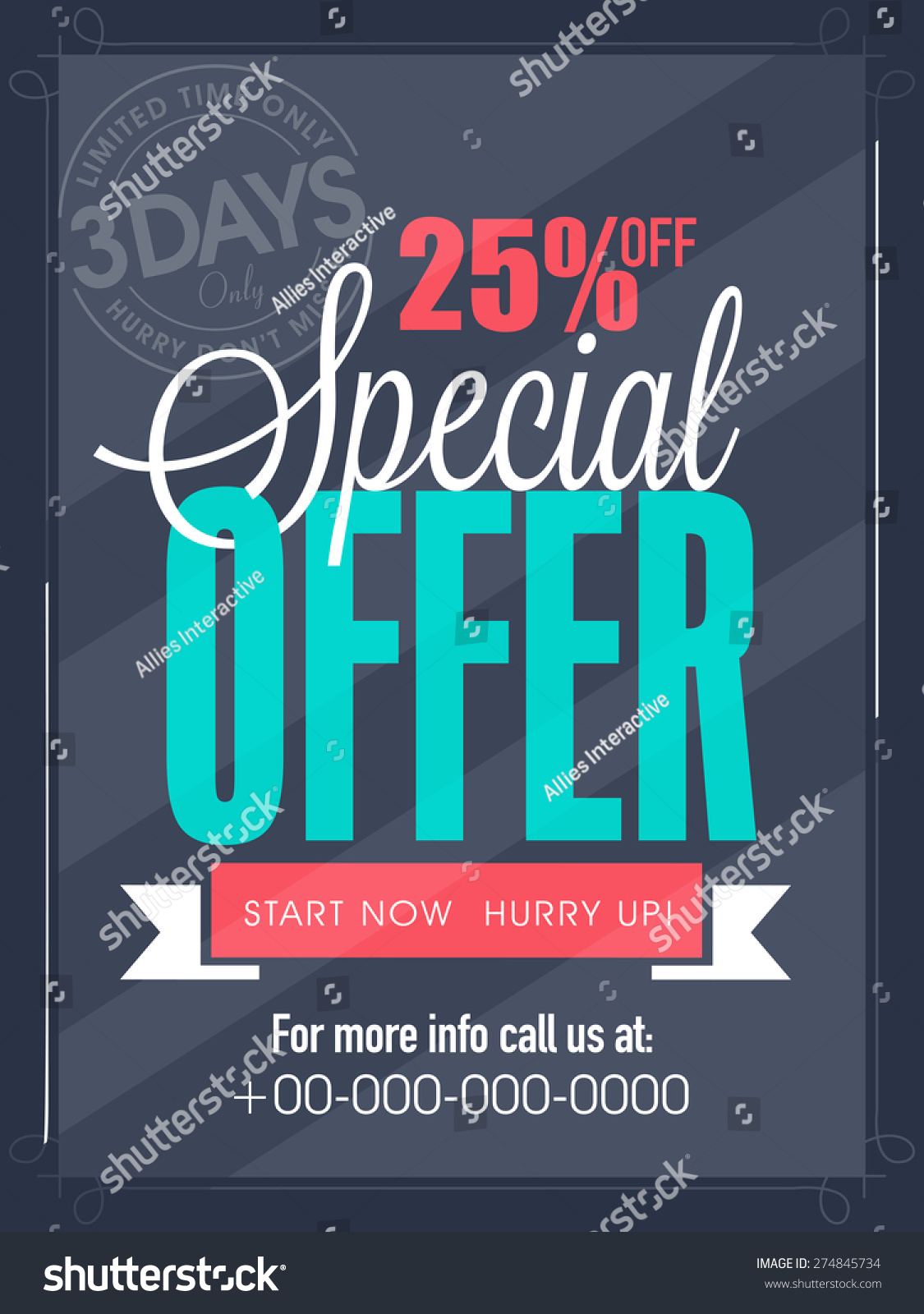 special offer days only flyer stock vector shutterstock special offer for 3 days only flyer banner or template design for your business