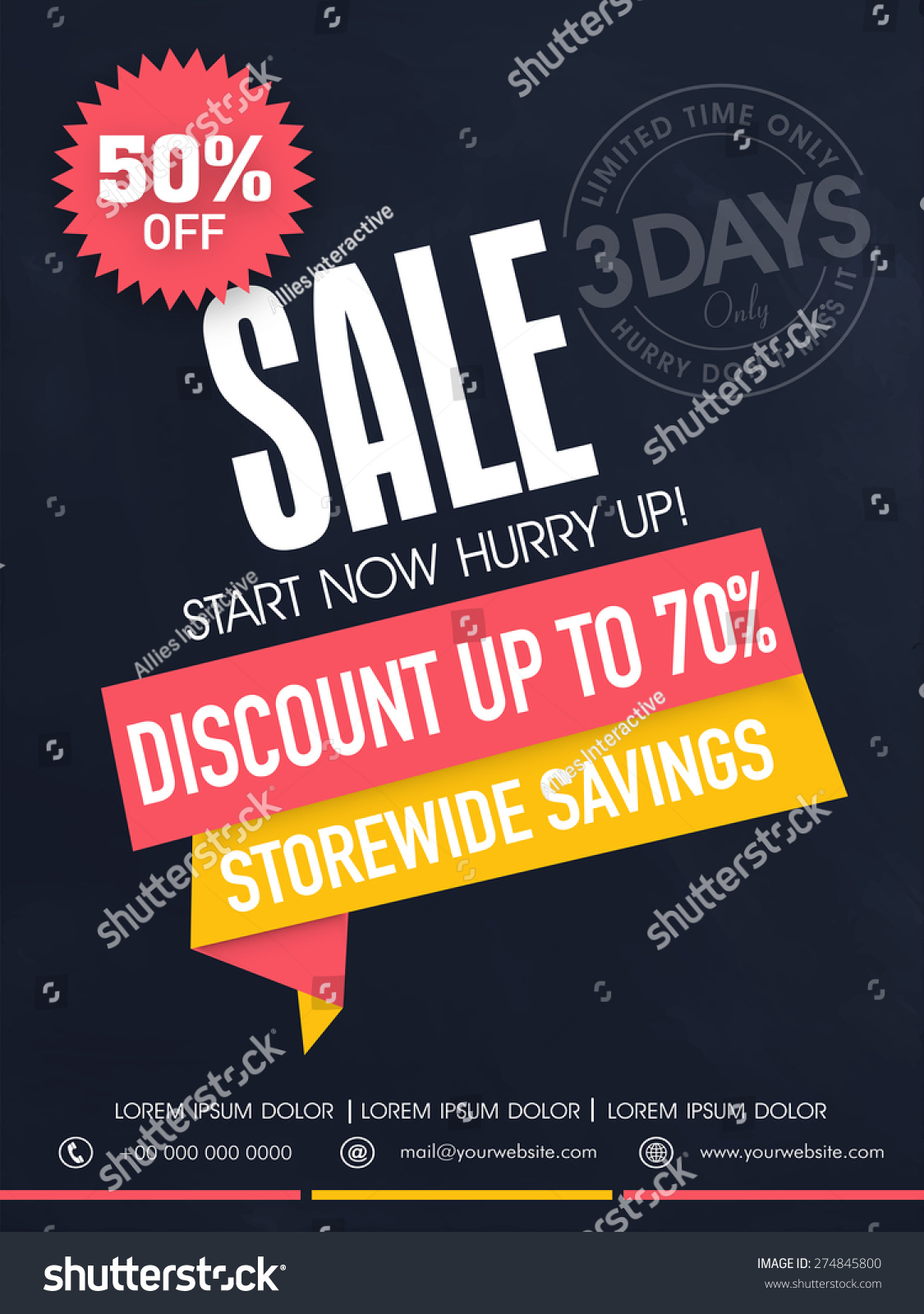 Limited Time Sale Flyer Banner Template Stock Vector 274845800 ...