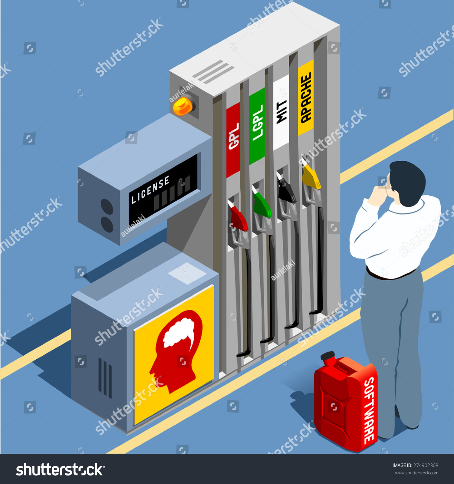 Software Licenses Gpl Lgpl Flat 3 D Stock Vector Royalty Free The Encyclopedia Electronic Circuit Design 3d Isometric Concept Wordplay Propane Fuel Lpg Become Of License