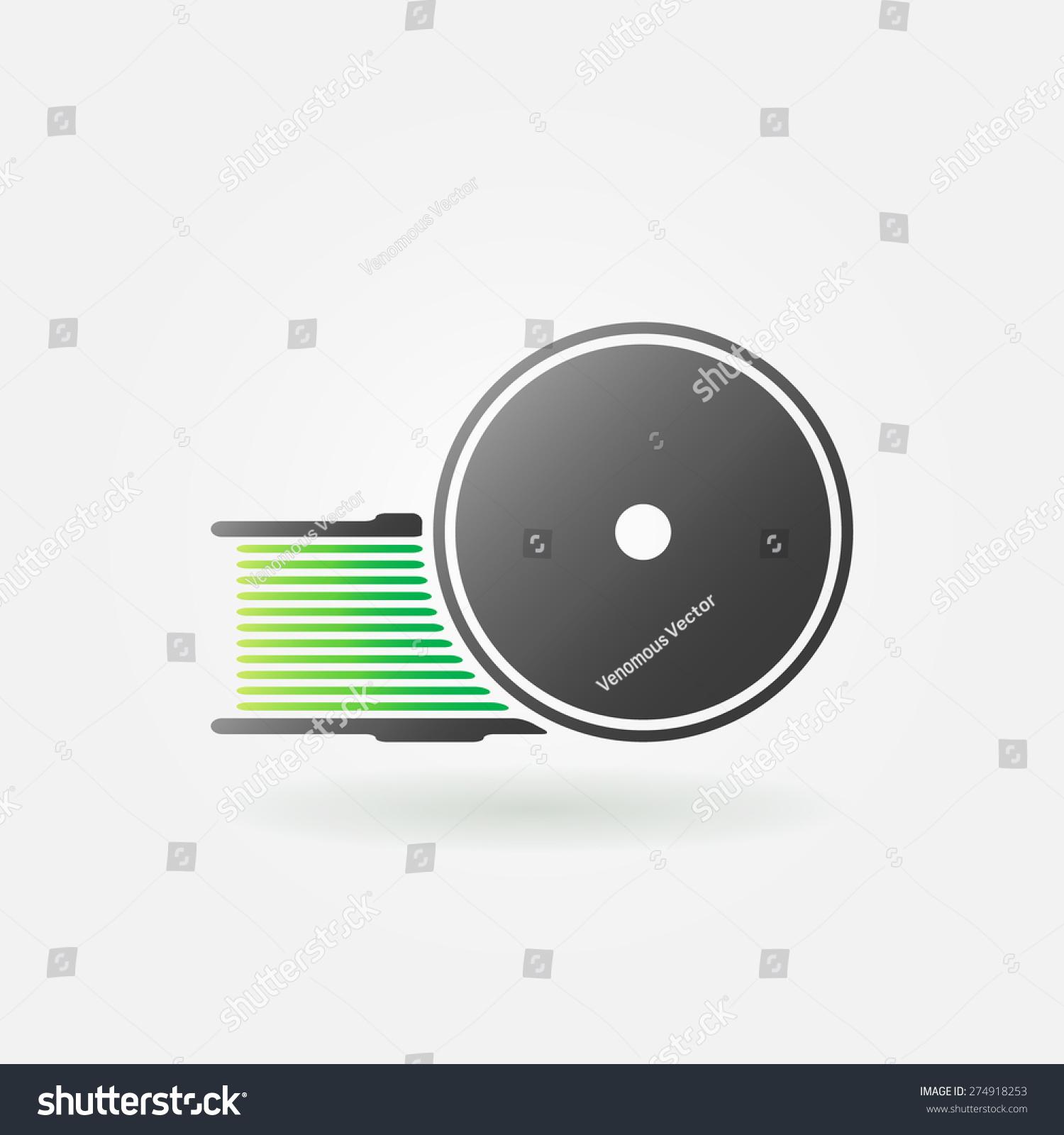 Green Filament 3d Printer Icon Logo Stock-vektorgrafik 274918253 ...
