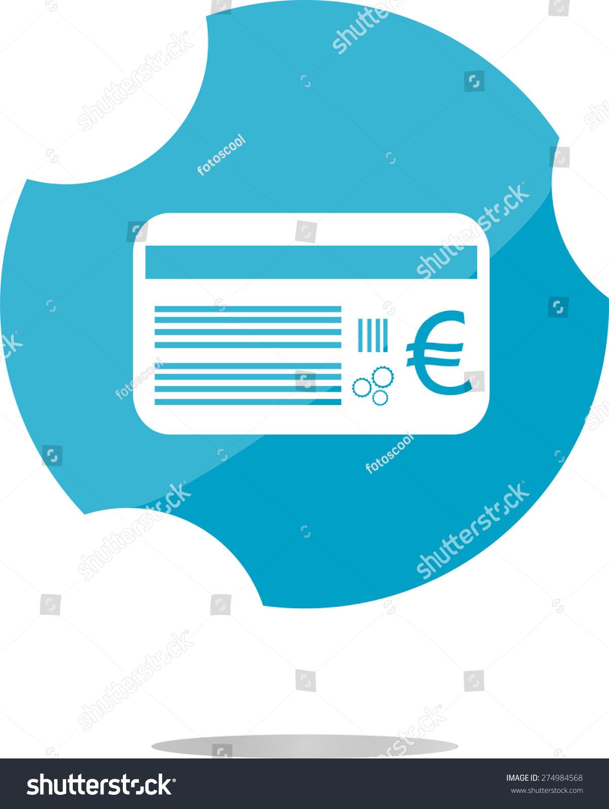 Vector Plastic Business Card Euro Eur Stock Vector