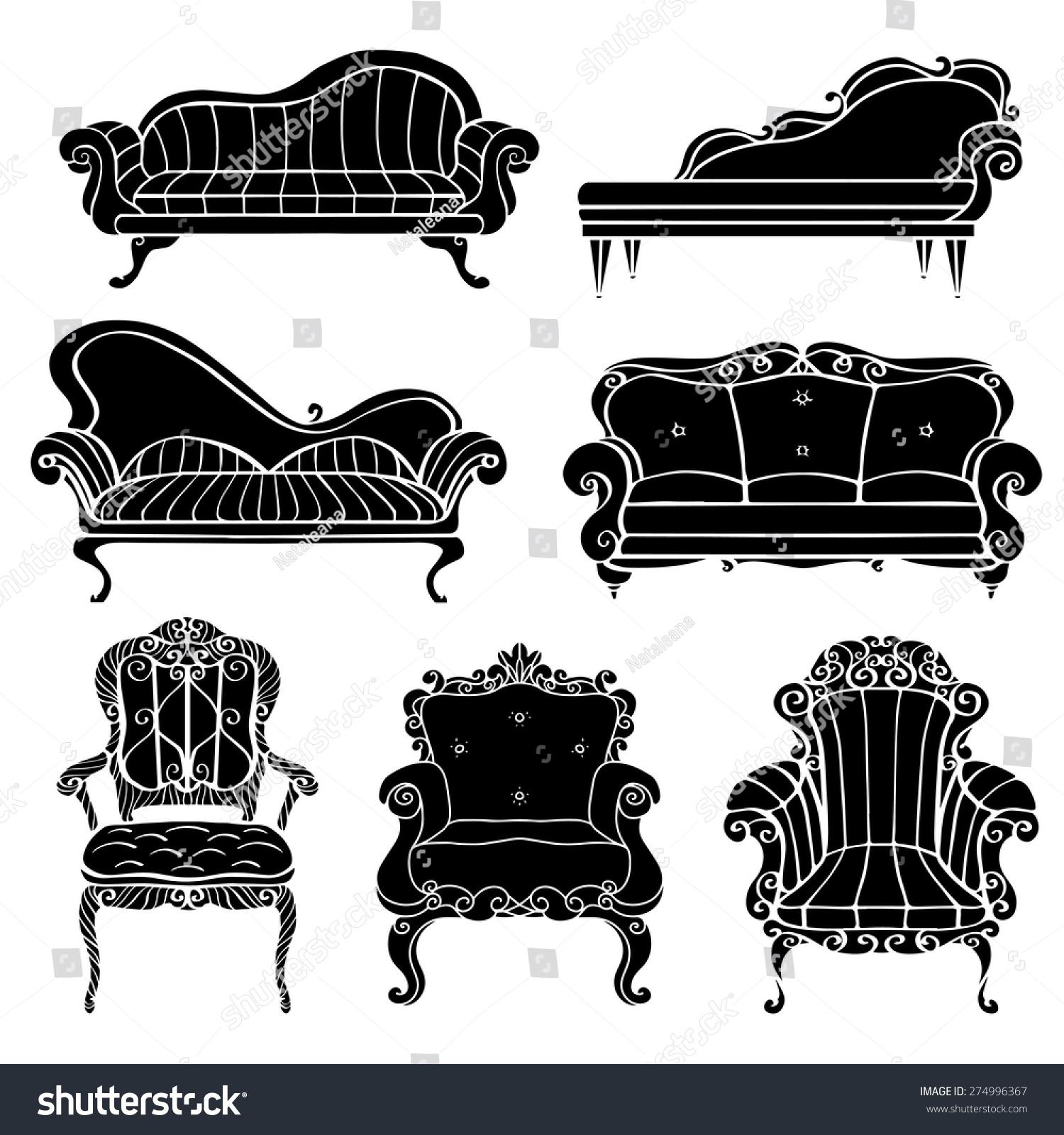 Furniture chair armchair throne sofa couch divan bed for Divan vintage