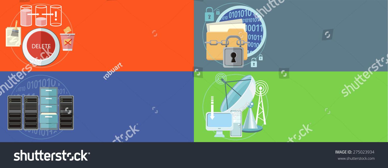 Deleting Data Files Folder Recycle Bin Stock Illustration