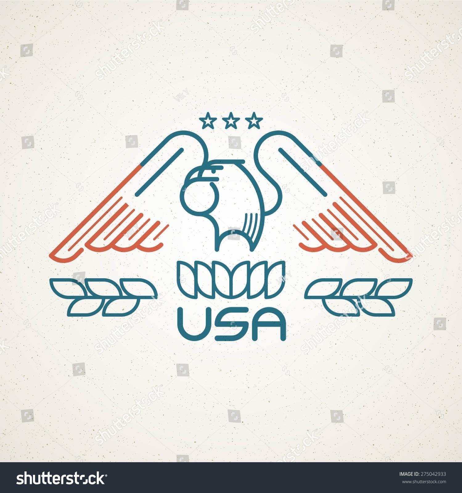 Made usa symbol american flag eagle stock vector 275042933 made in the usa symbol with american flag and eagle templates emblems vector illustration buycottarizona