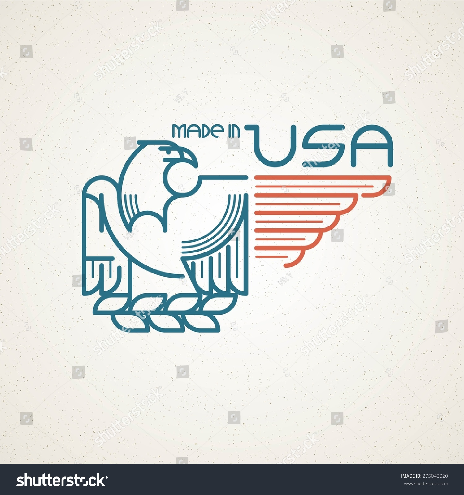 Made usa symbol american flag eagle stock vector 275043020 made in the usa symbol with american flag and eagle templates emblems vector illustration buycottarizona