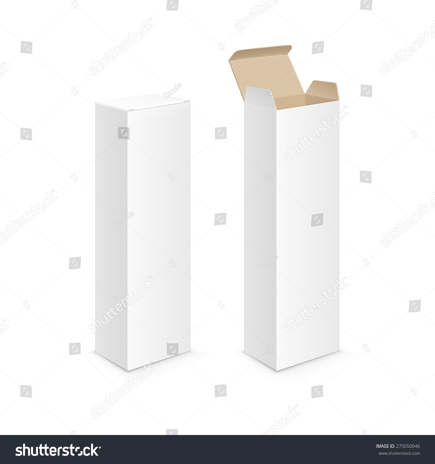 vector white blank packaging package pack stock vector royalty free